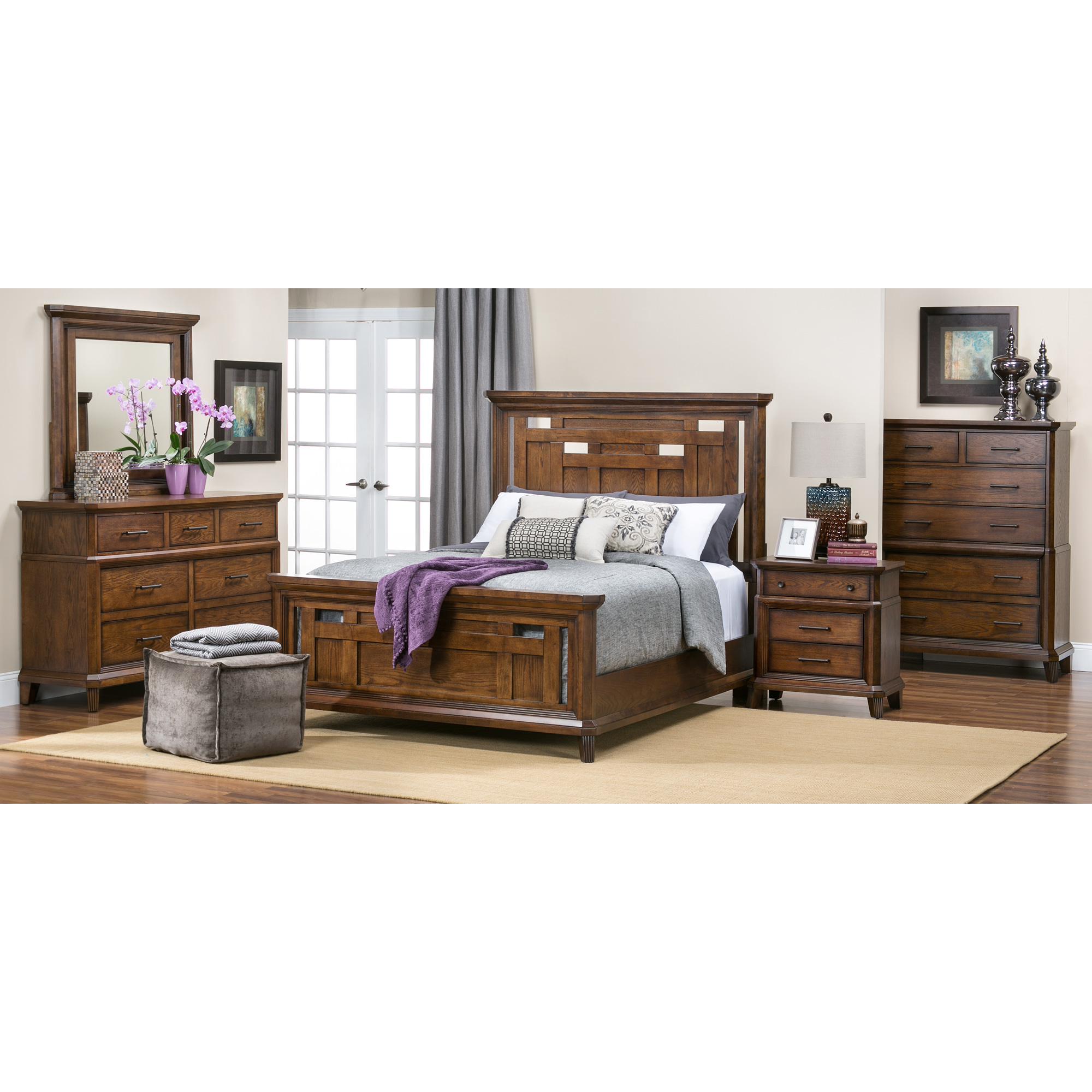 Davis Direct | Acorn Hill Brown King 4 Piece Room Group Bedroom Set