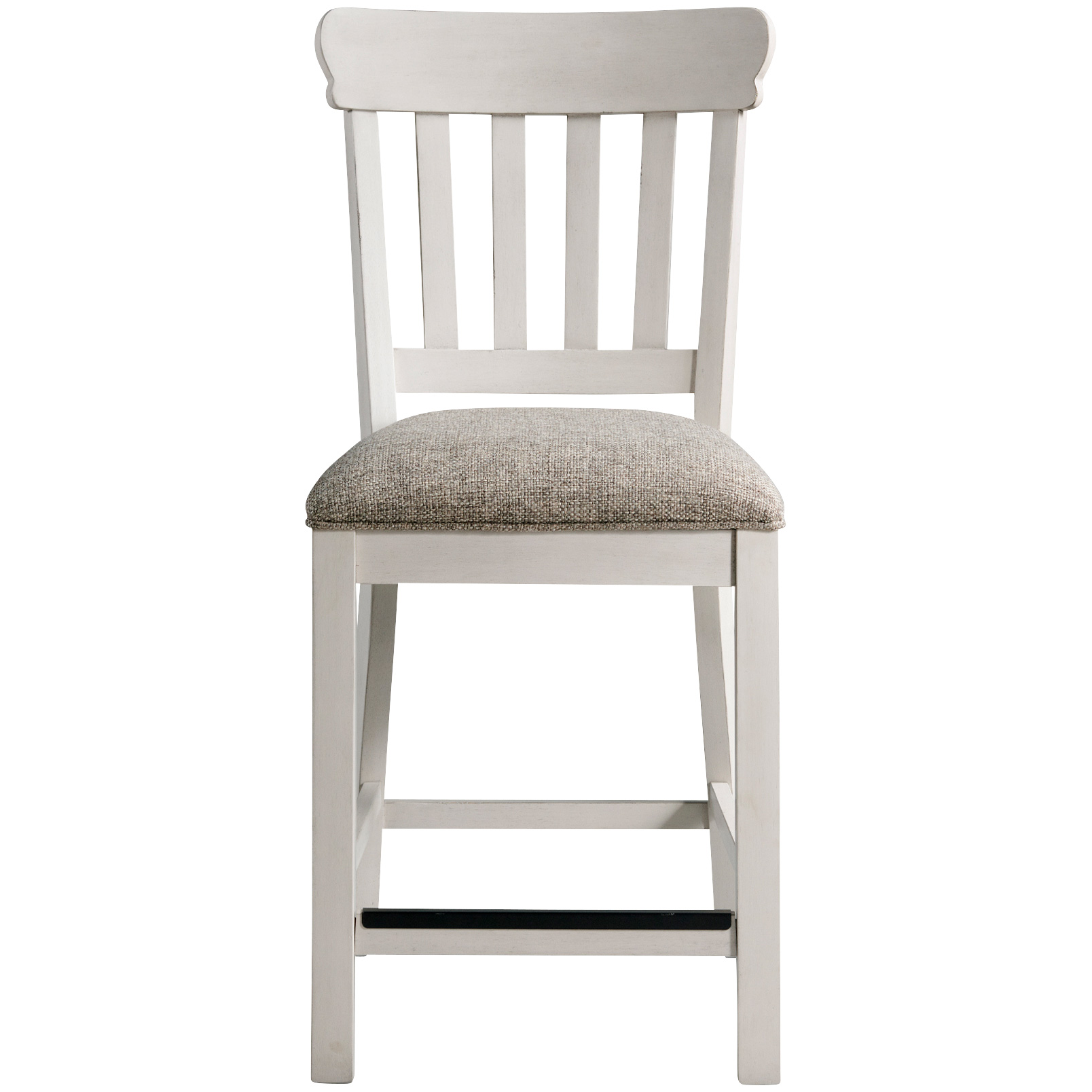 Intercon | Drake Rustic White Slat Back Barstool