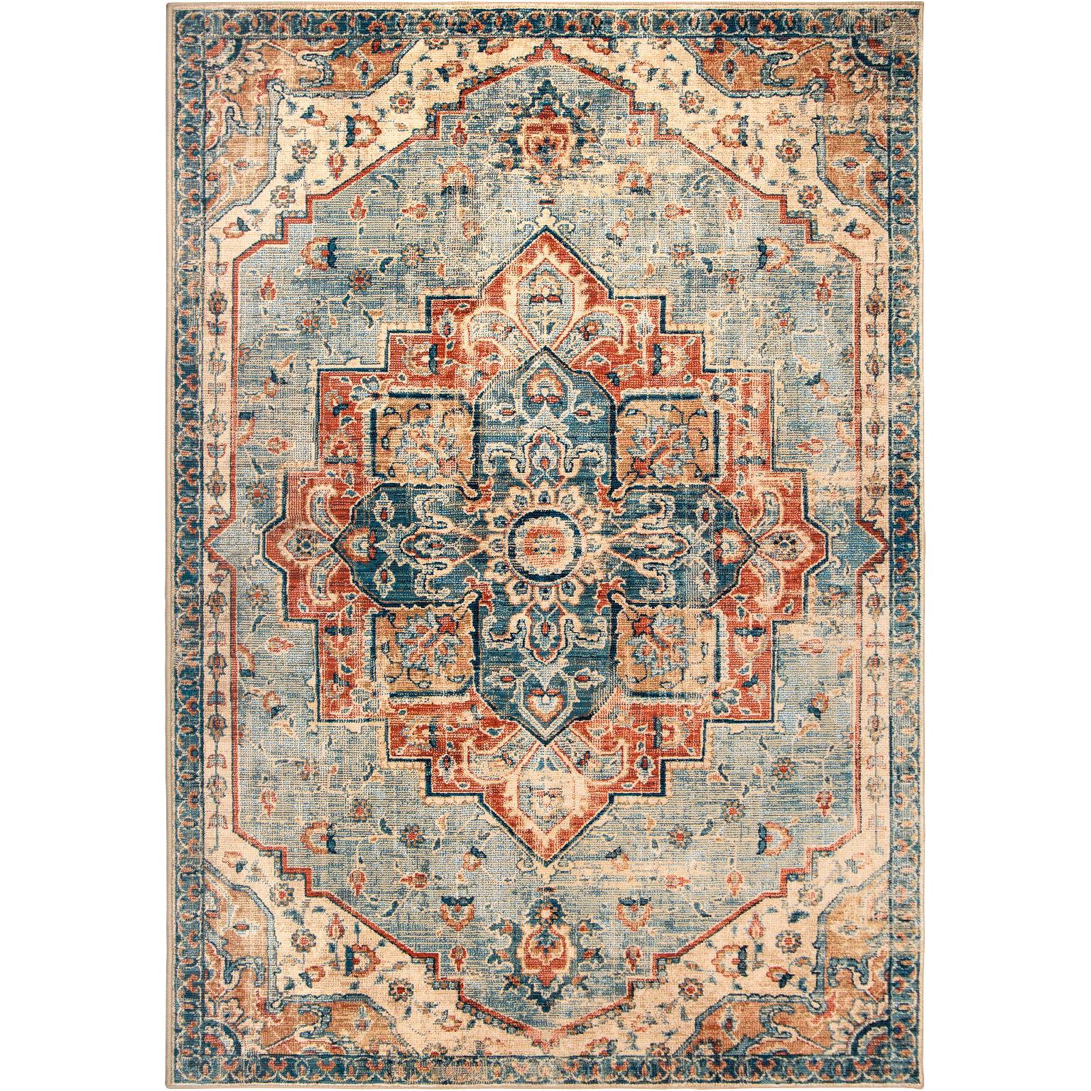 Orian | Alexandria King Fisher Pale Blue 5x8 Area Rug