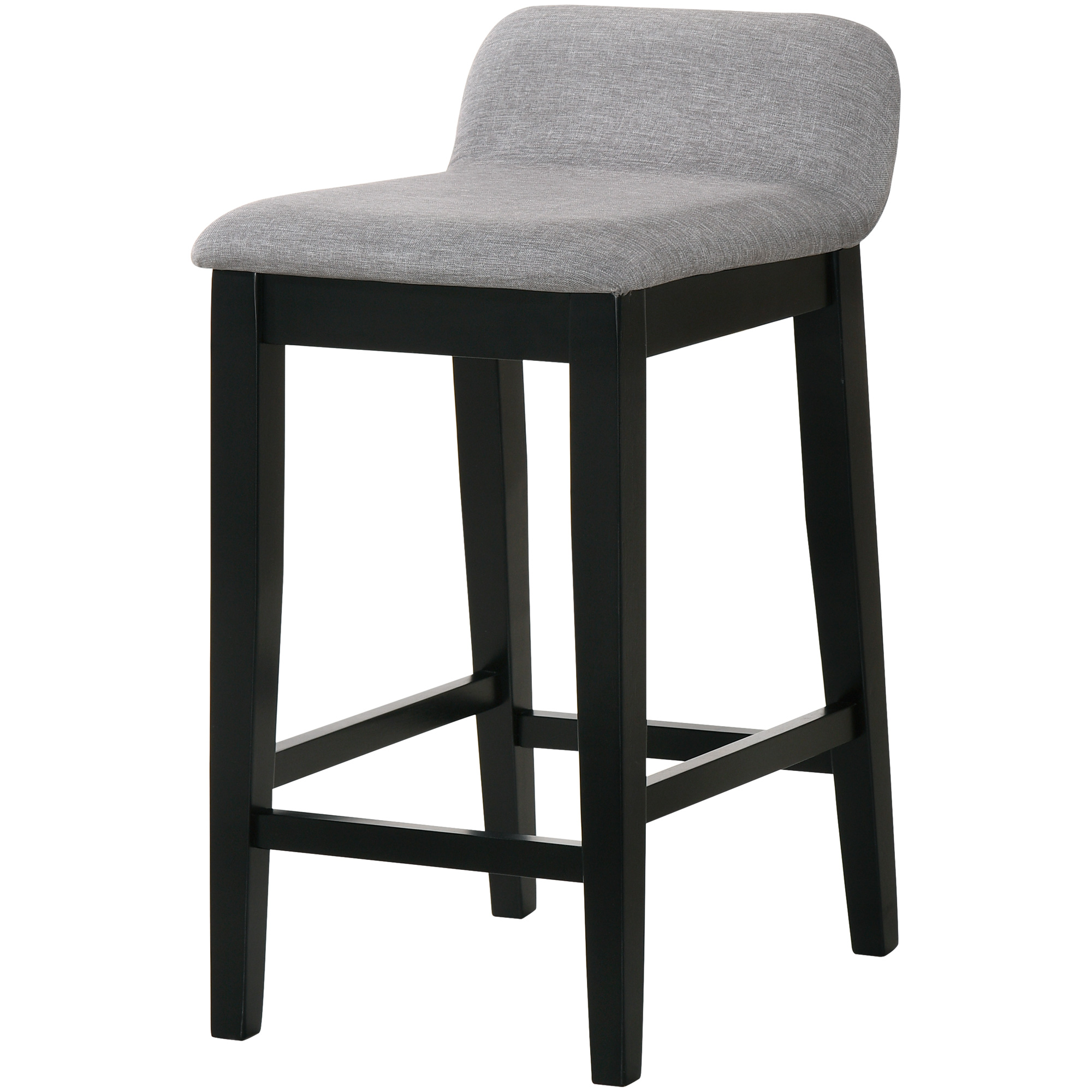 Lifestyle Enterprise | Maddox Light Walnut Counter Stool | Gray