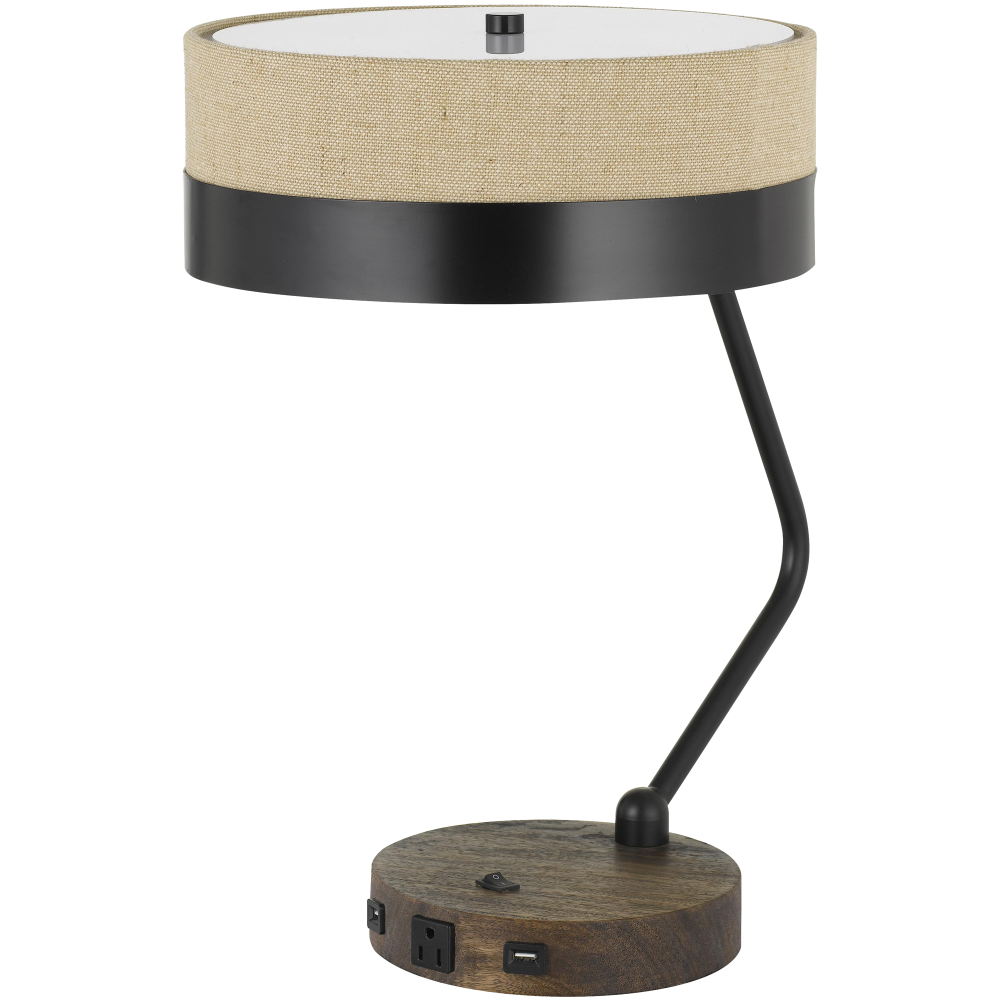 Cal Lighting | Parson Brown Desk Lamp