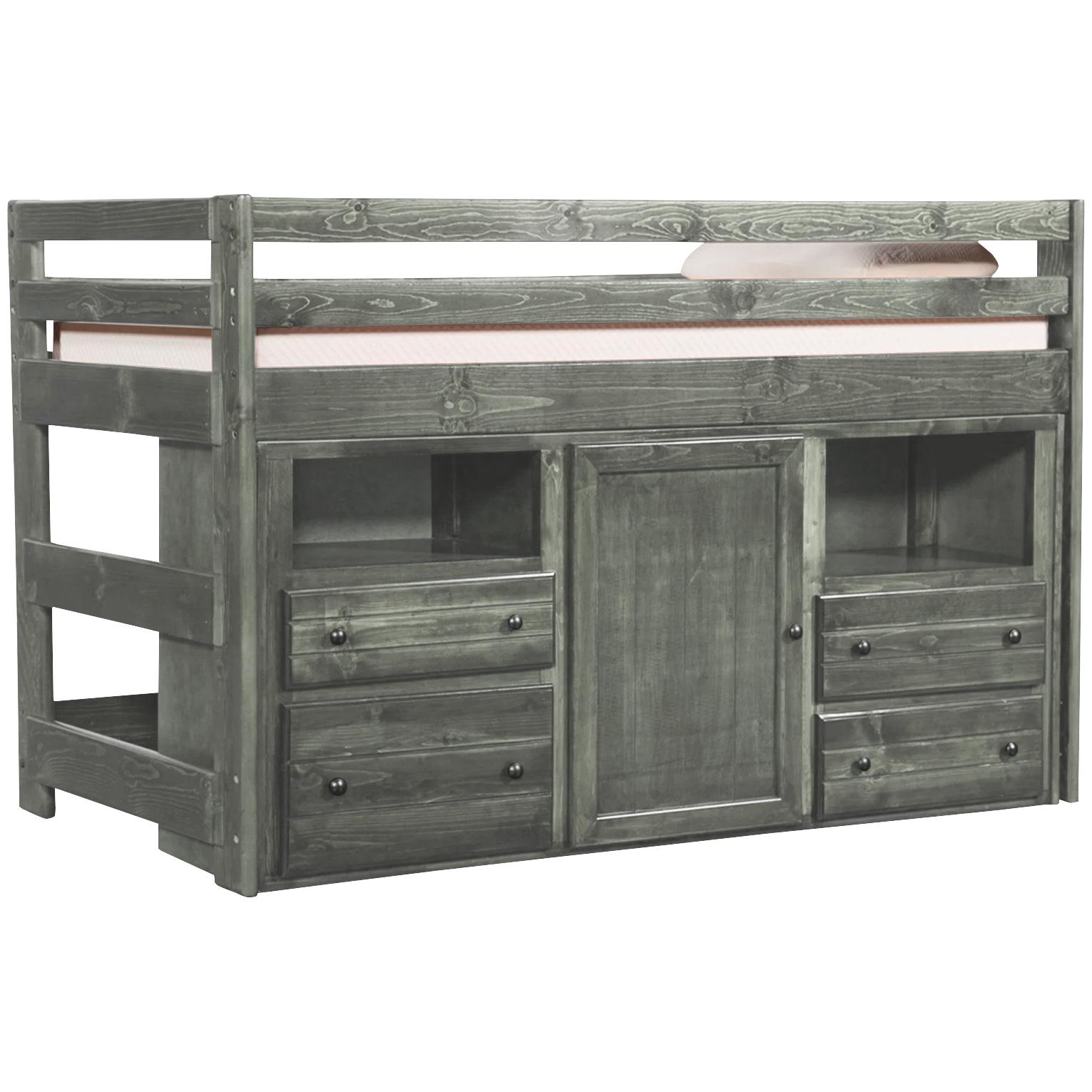 Trendwood Inc. | Bayview Driftwood Loft Bed with Super Dresser