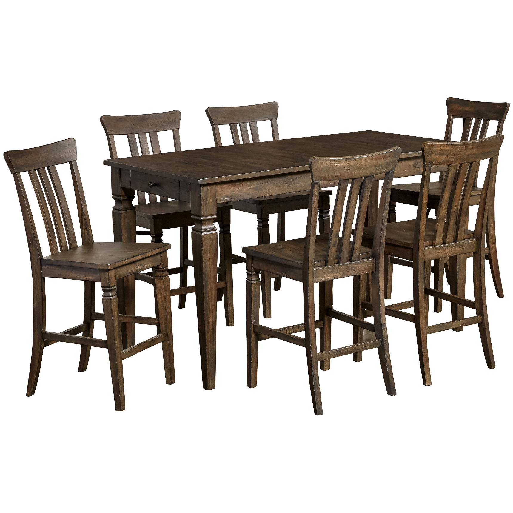 A America | Kingston Dusty Black 5 Piece Counter Dining Set
