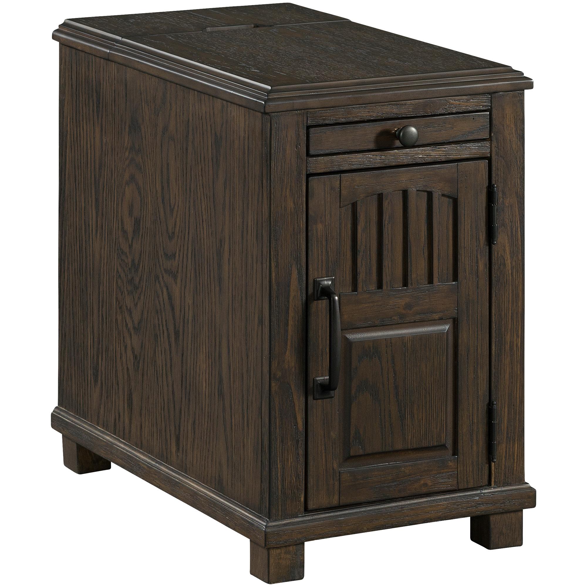 Lane Home Furnishings | Oak Park Walnut Power Chairside Table