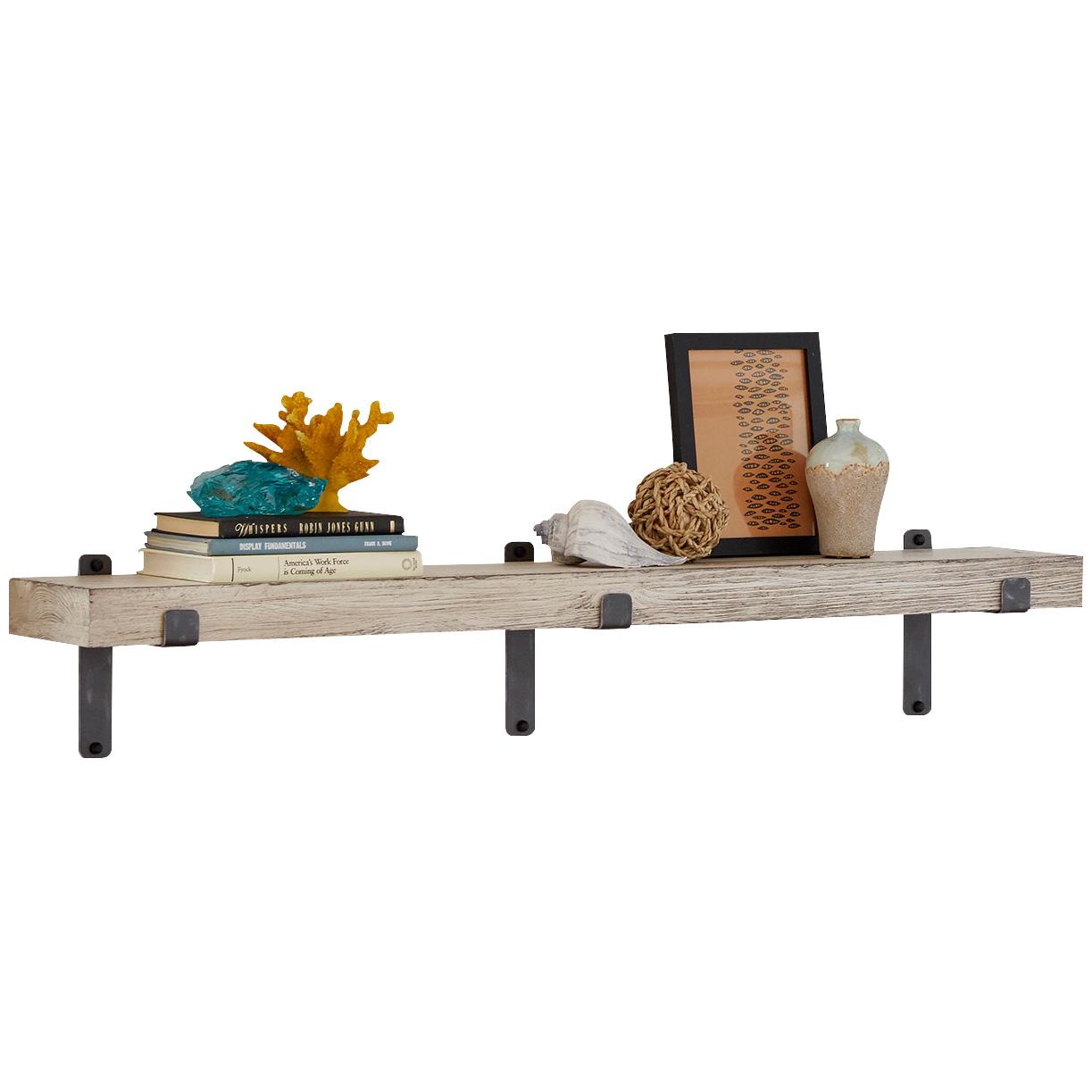 """Martin Furniture | Vintage White 48"""" Wall Shelf"""