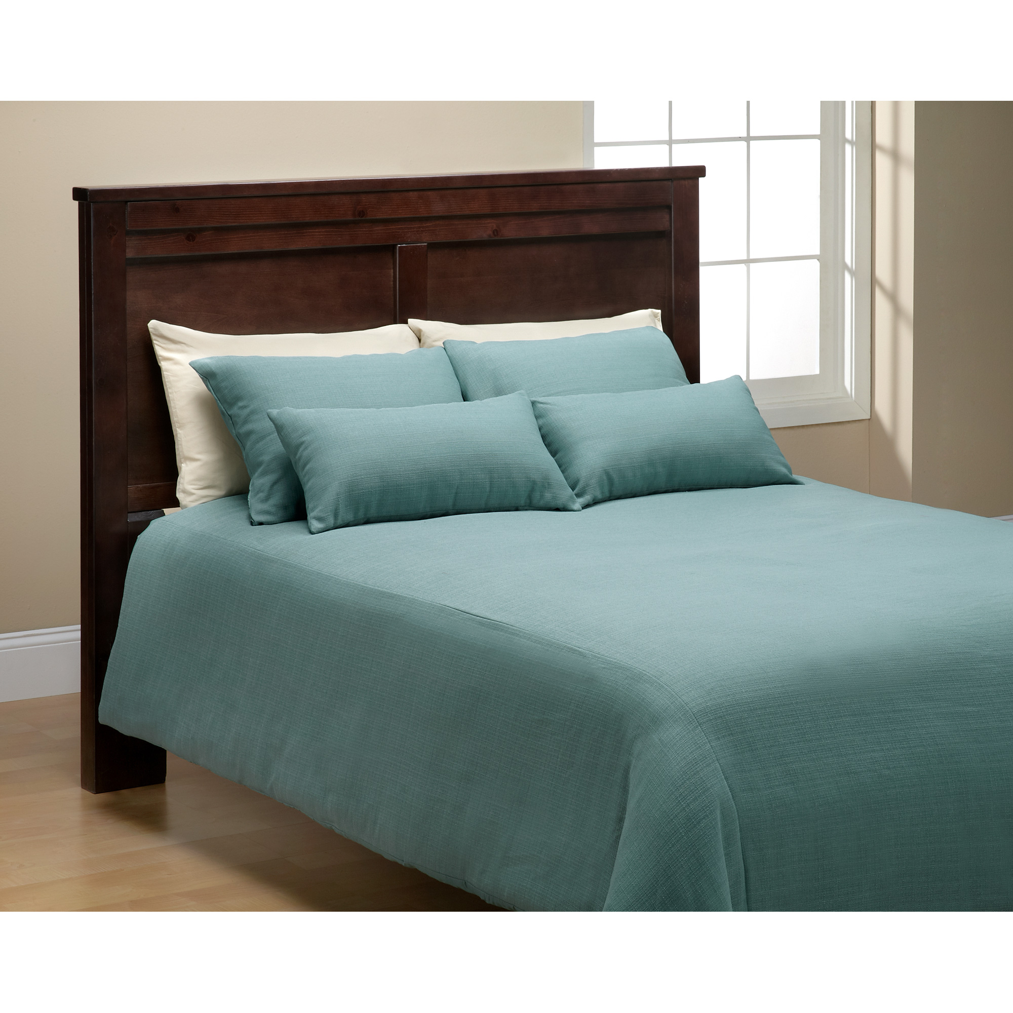 Sis Enterprises | Belfast 6 Piece Teal Queen Bedding Set