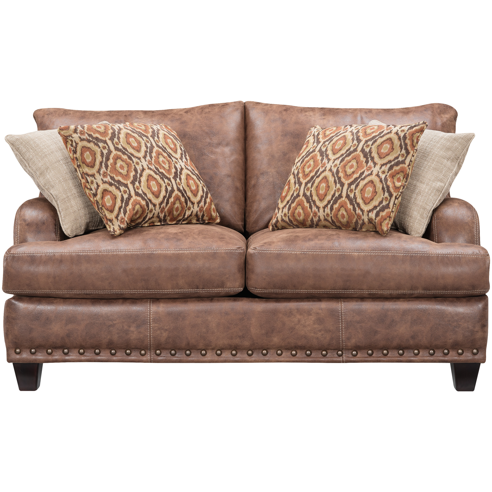 Franklin | Dexter Walnut Loveseat Sofa