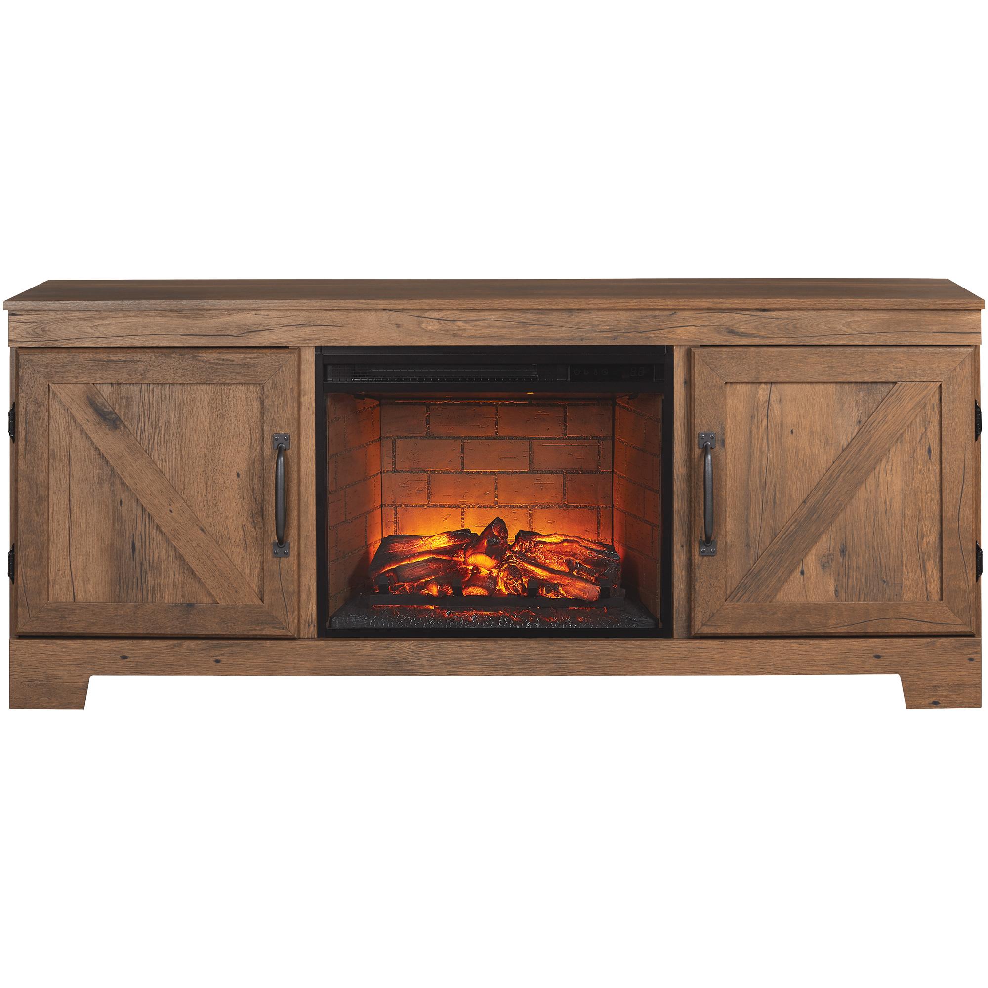 """Kith Furniture | Cheyenne Oak 64"""" Fireplace Console Table"""