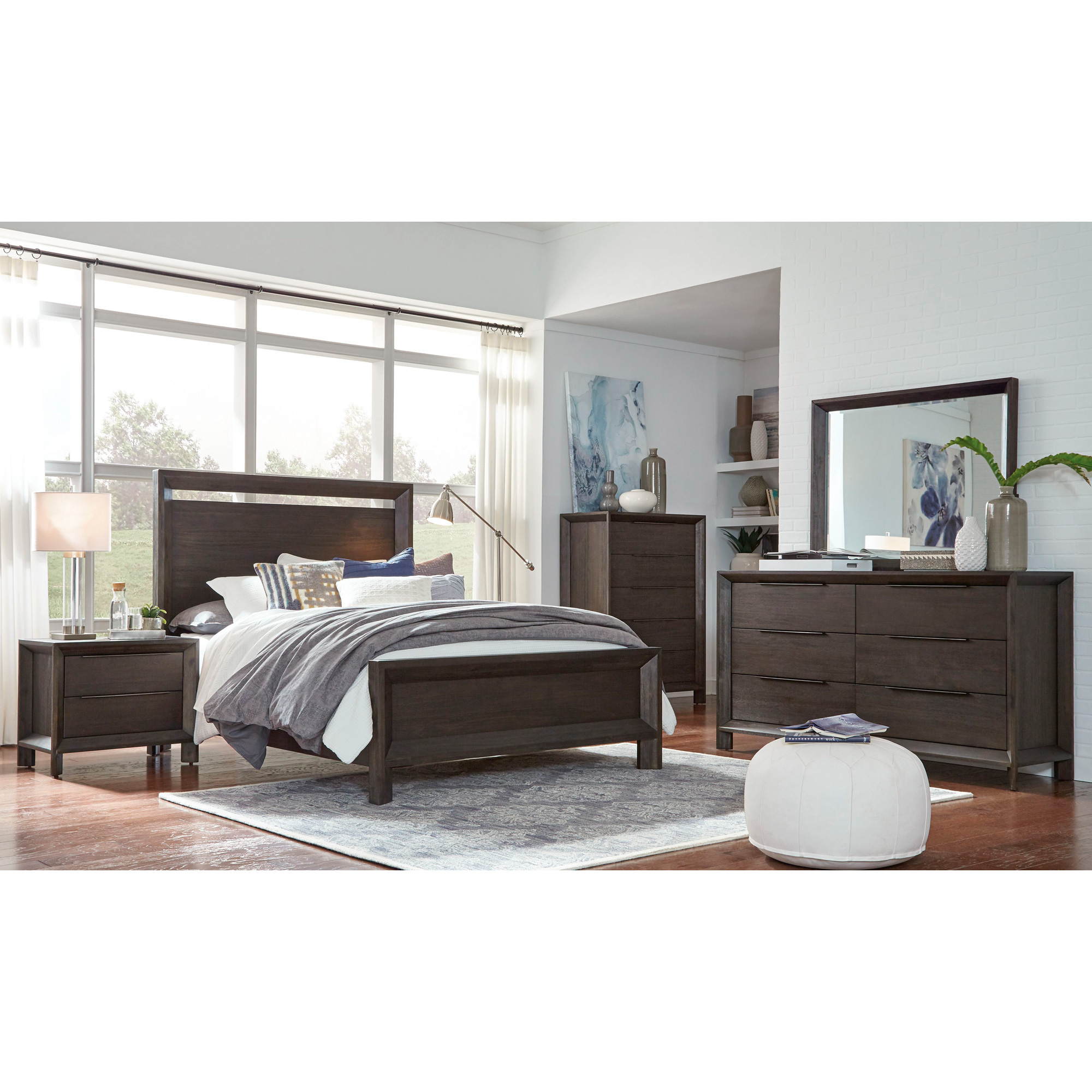 Modus Furniture International | Chloe Basalt Gray Queen 4 Piece Room Group Bedroom Set