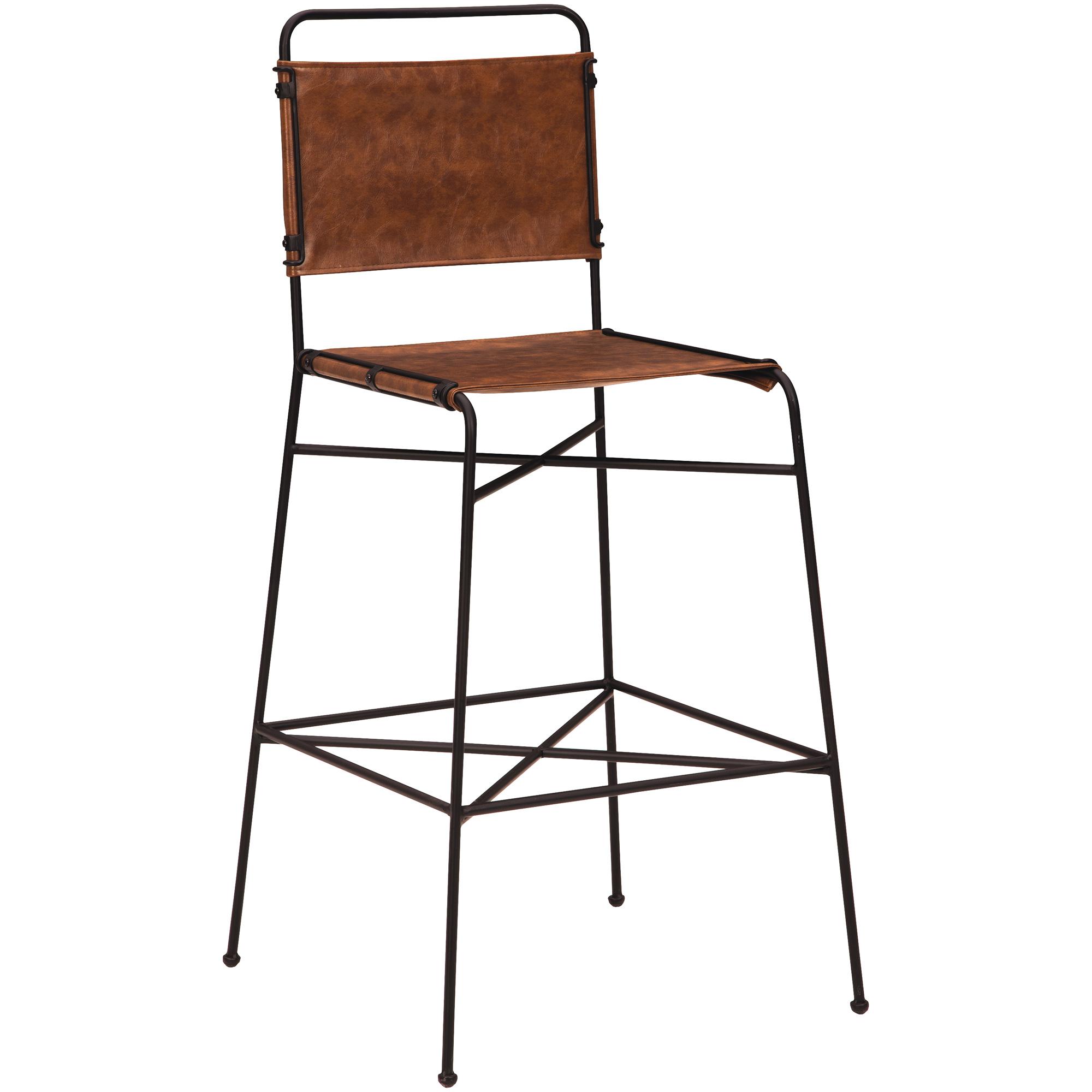 Kith Furniture | Branson Charcoal Bar Stool