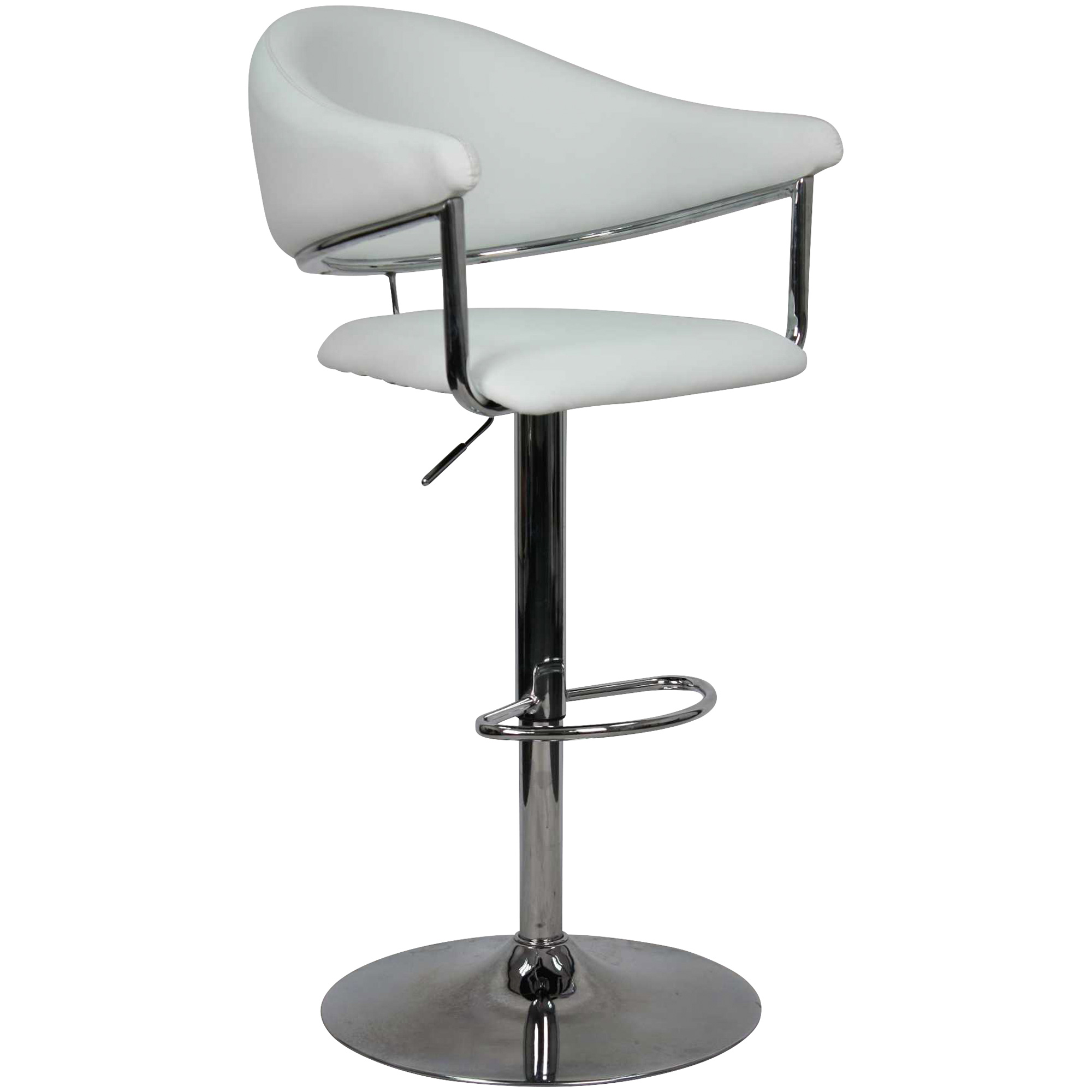 Whalen Furniture | Airstream White Adjustable Stool