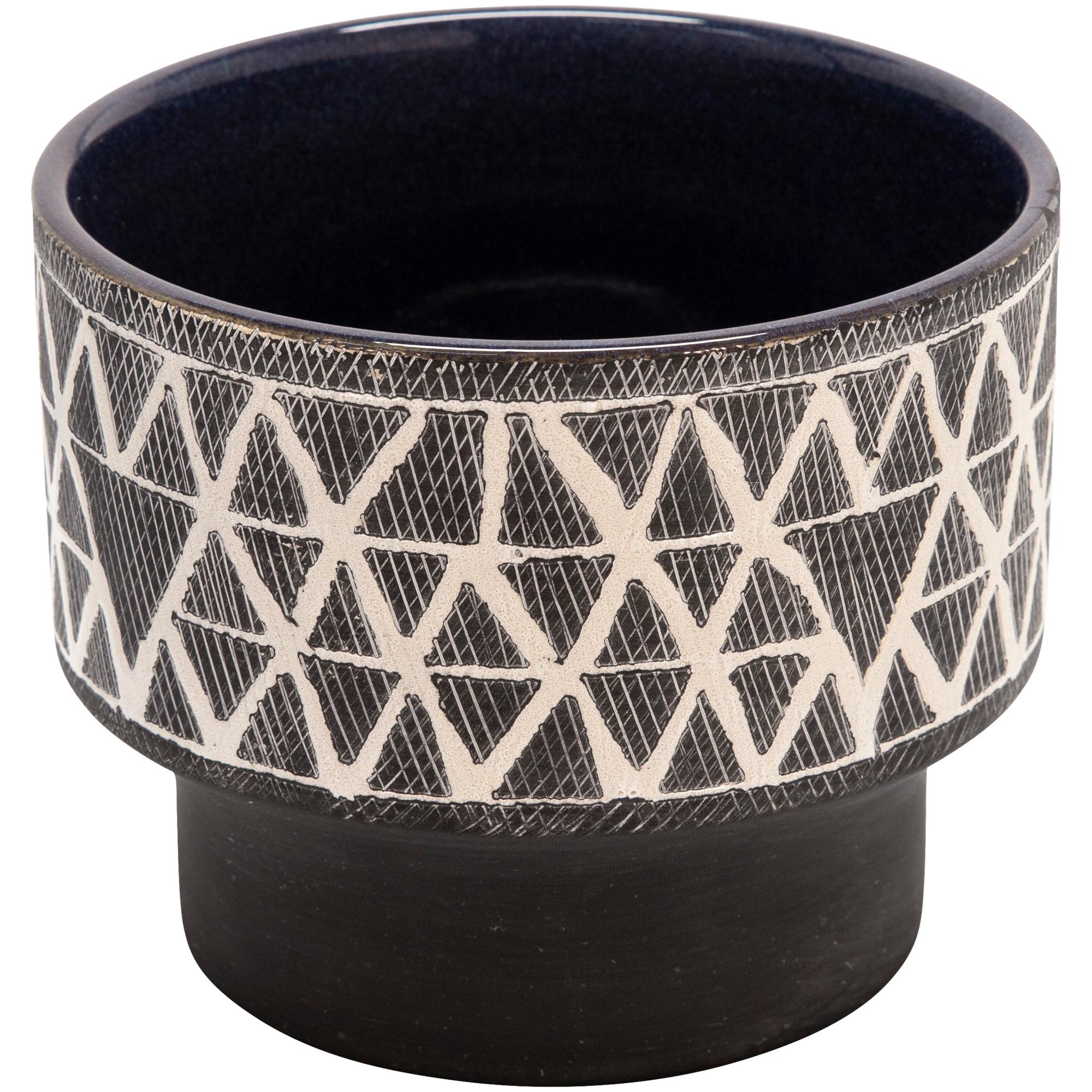 Sagebrook | Collected Culture Gray Ceramic Planter