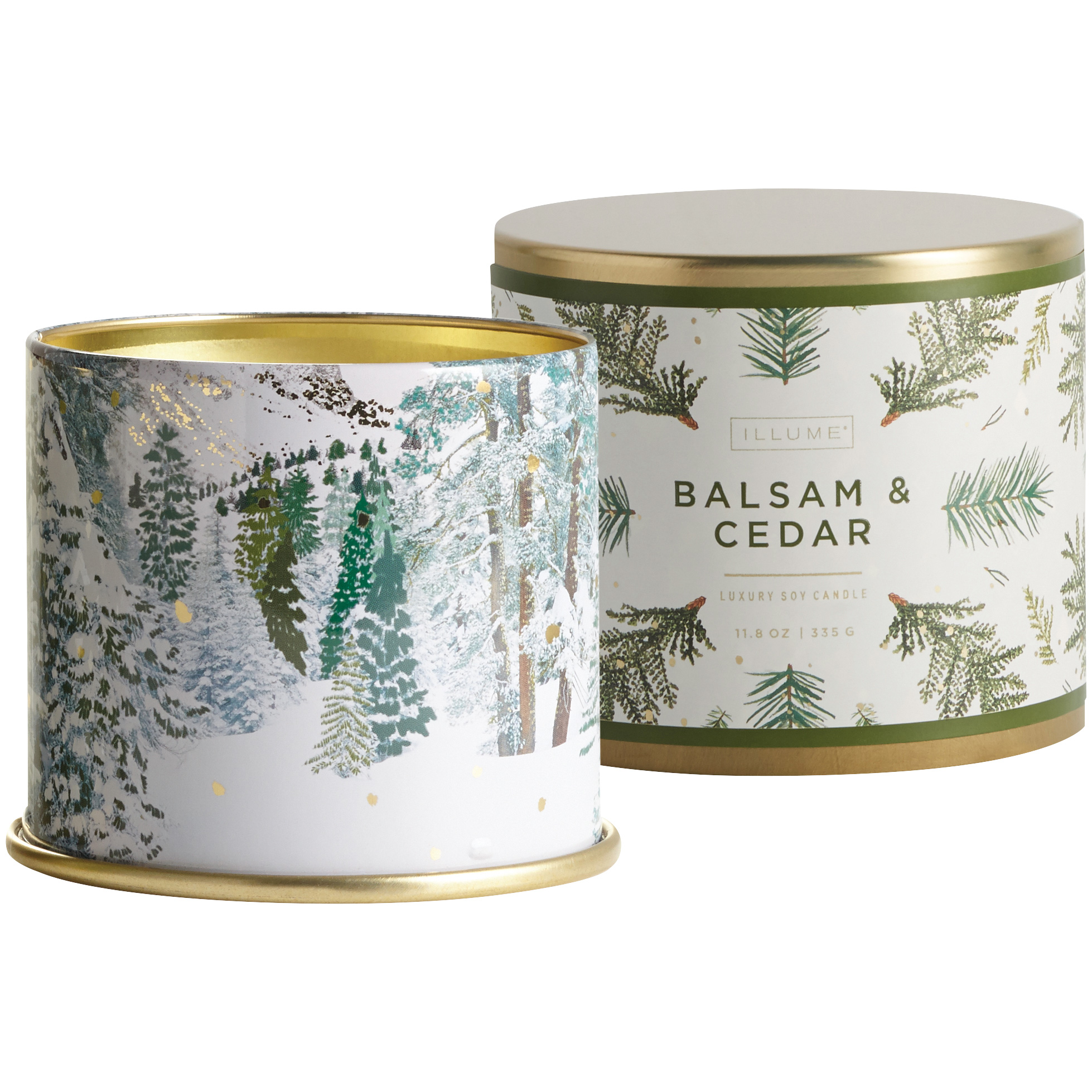 Illume | Noble Holiday Balsam and Cedar Vanity Tin Candle