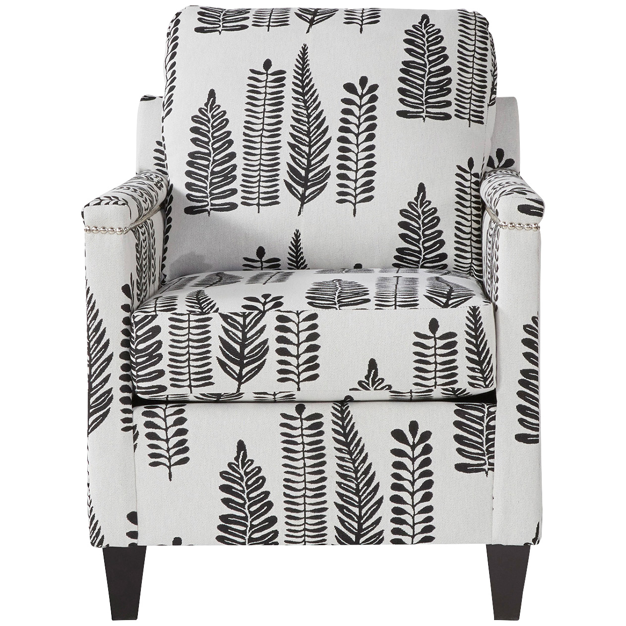 Serta Upholstery By Hughes Furniture | Bling Onyx Accent Chair | Silver
