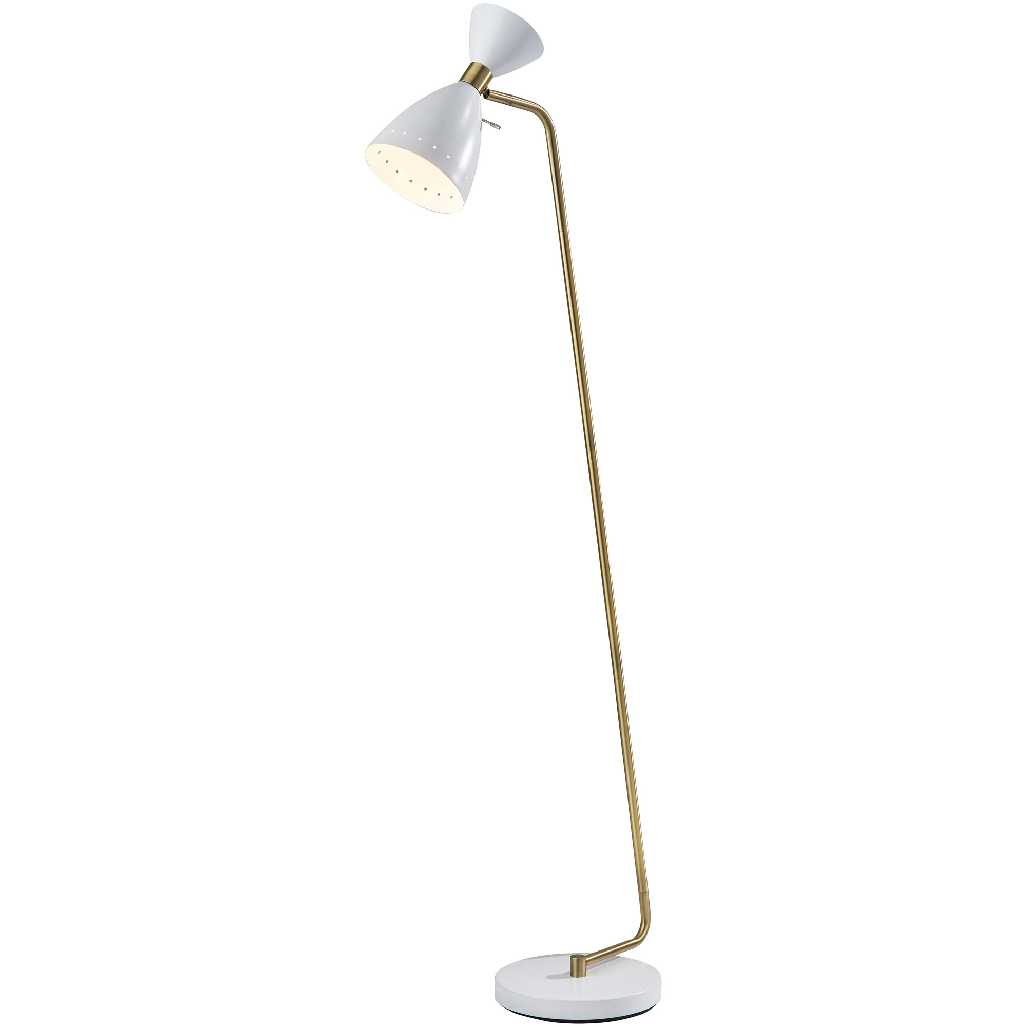 Adesso | Oscar White Floor Lamp