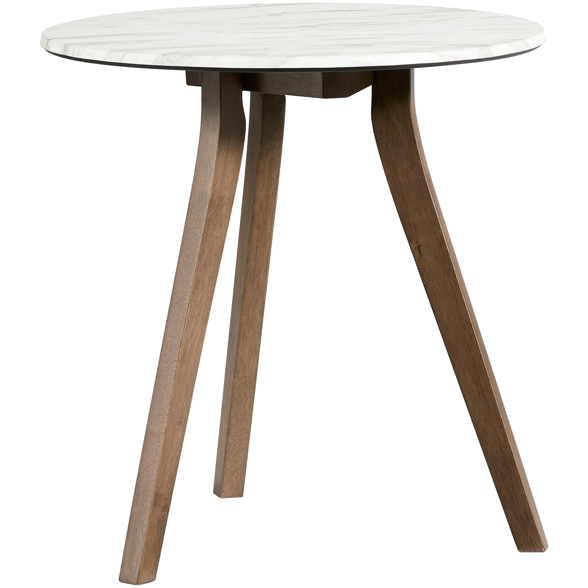 Progressive Furniture Inc. | Pixie White Round End Table