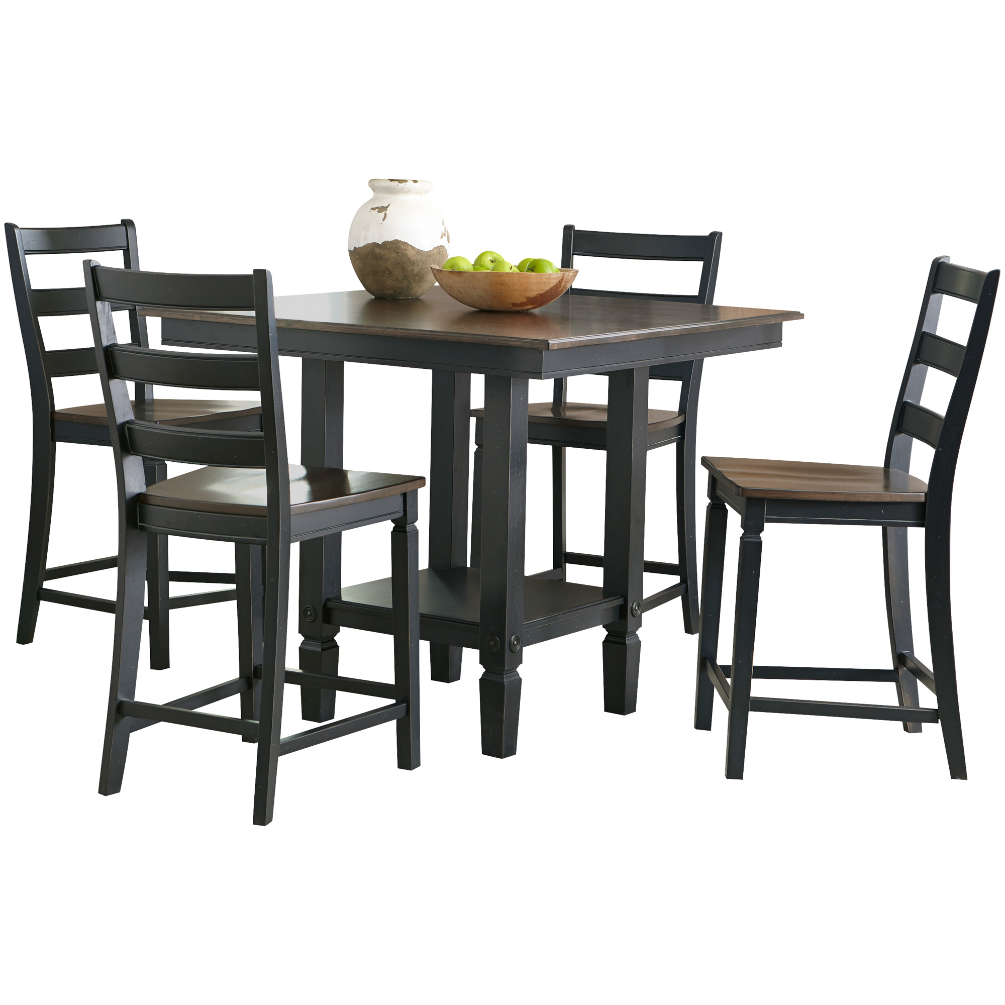 Intercon | Glennwood Black 5 Piece Counter Dining Set