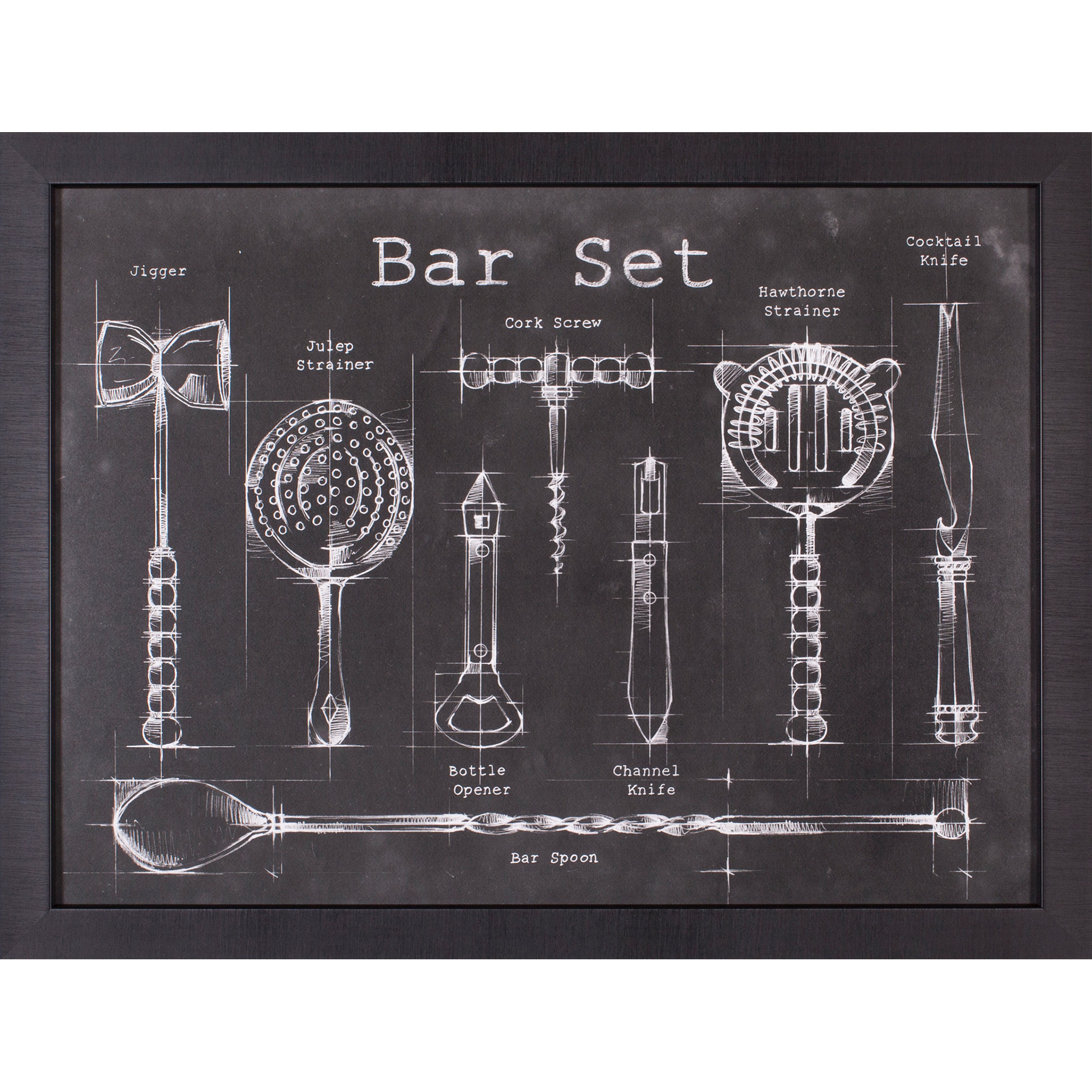 Art Effects | Bar Set Framed Artwork