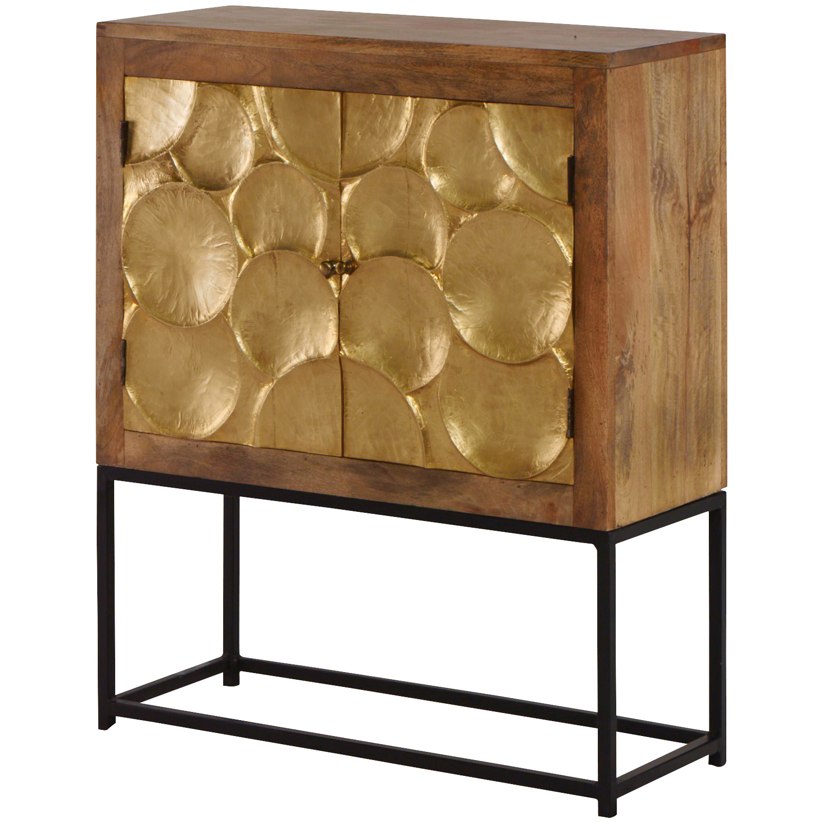 Jaipur Home LLC | Urban Composition Golden Cabinet | Black