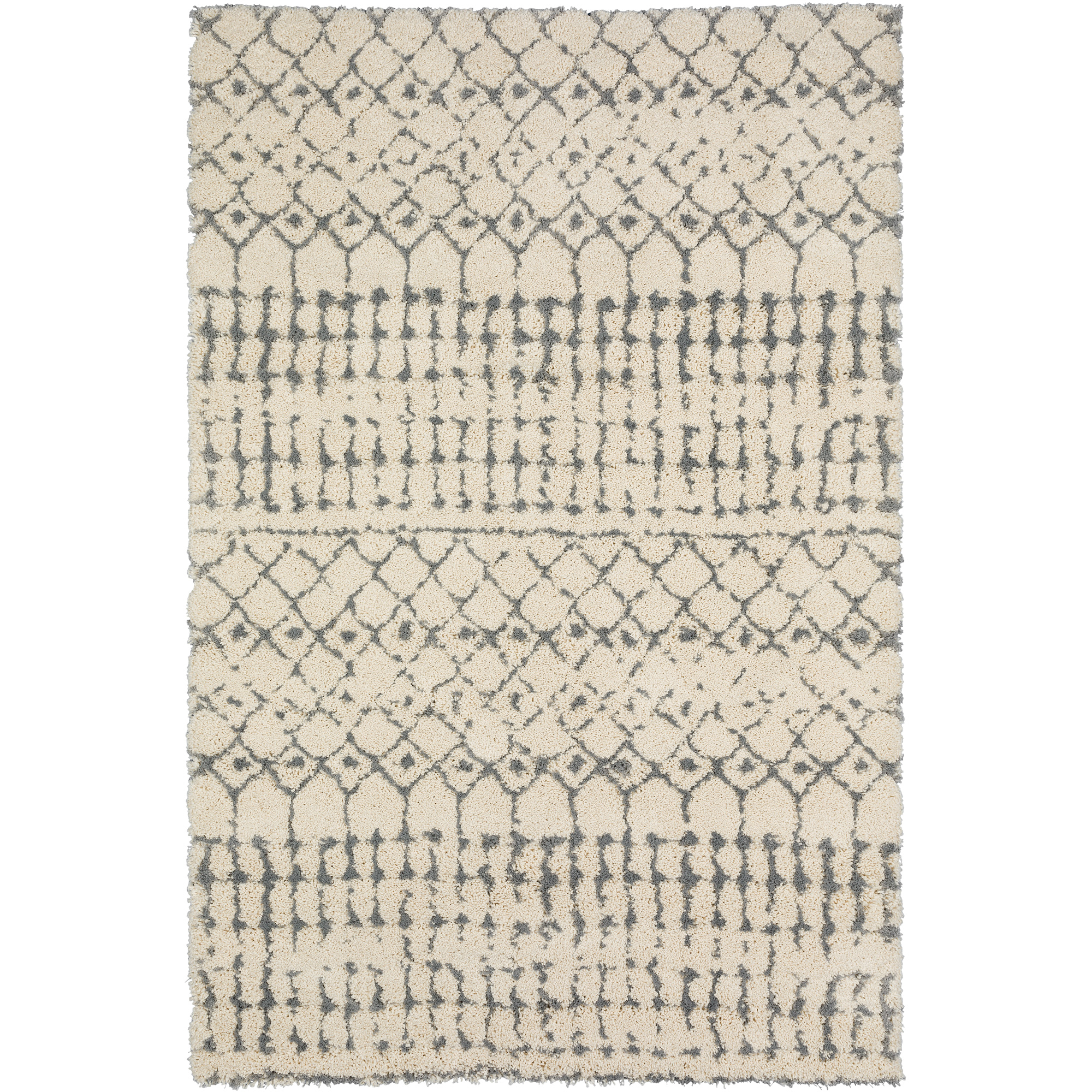 Dalyn Rug Company | Marquee Ivory And Metal 5x8 Area Rug