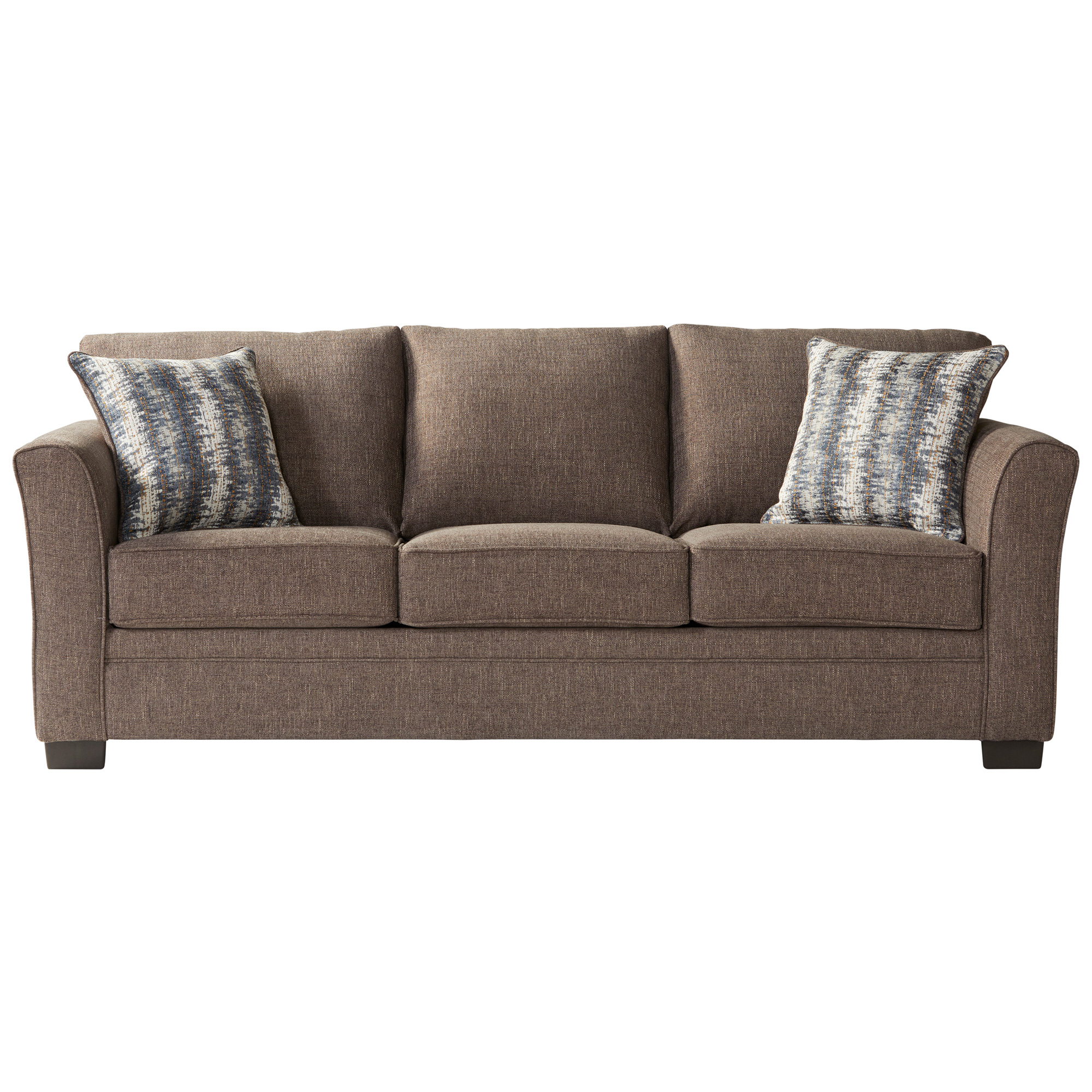 Serta Upholstery By Hughes Furniture | Bolster Umber Queen Sleeper Sofa