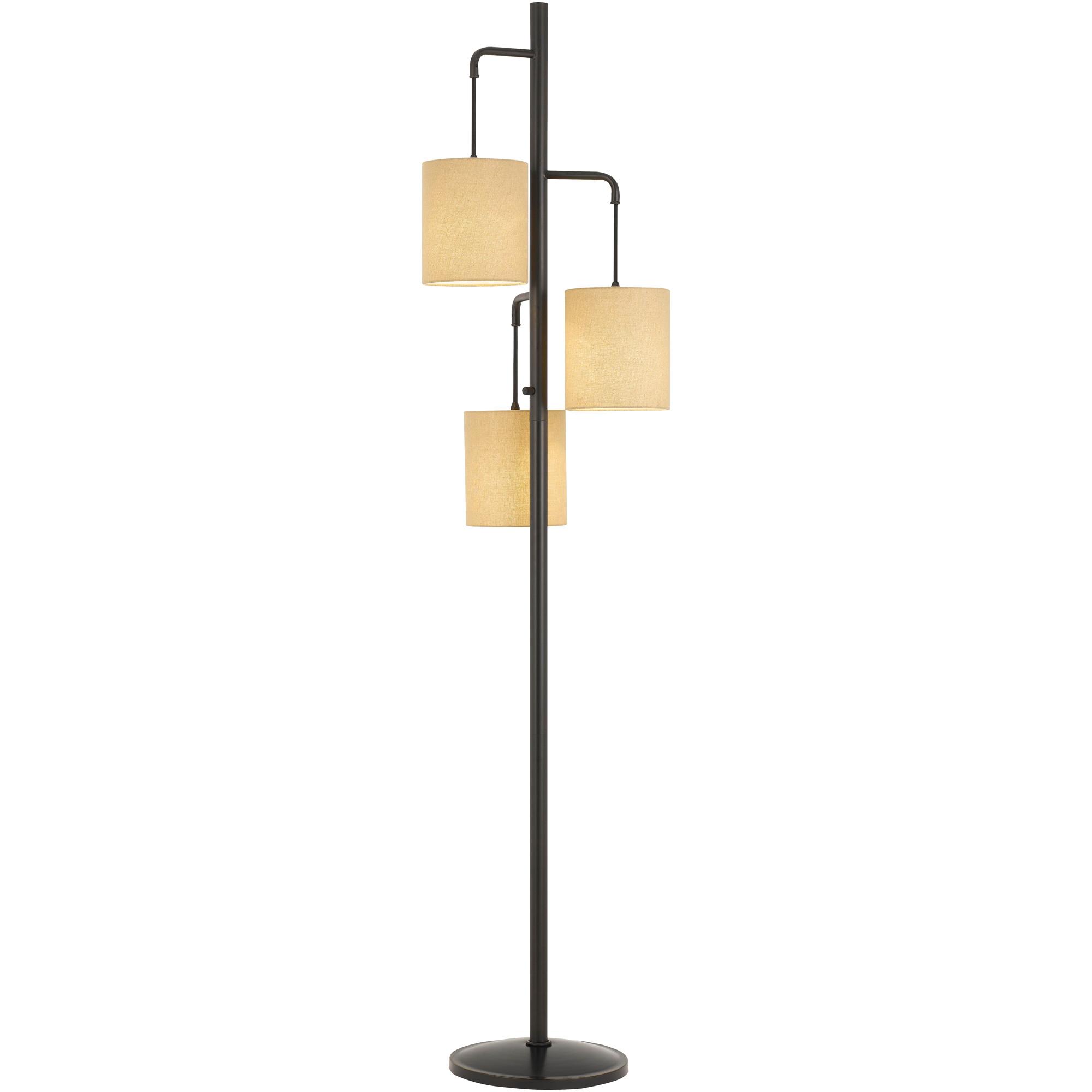 Cal Lighting | Kirkwall Brown Floor Lamp
