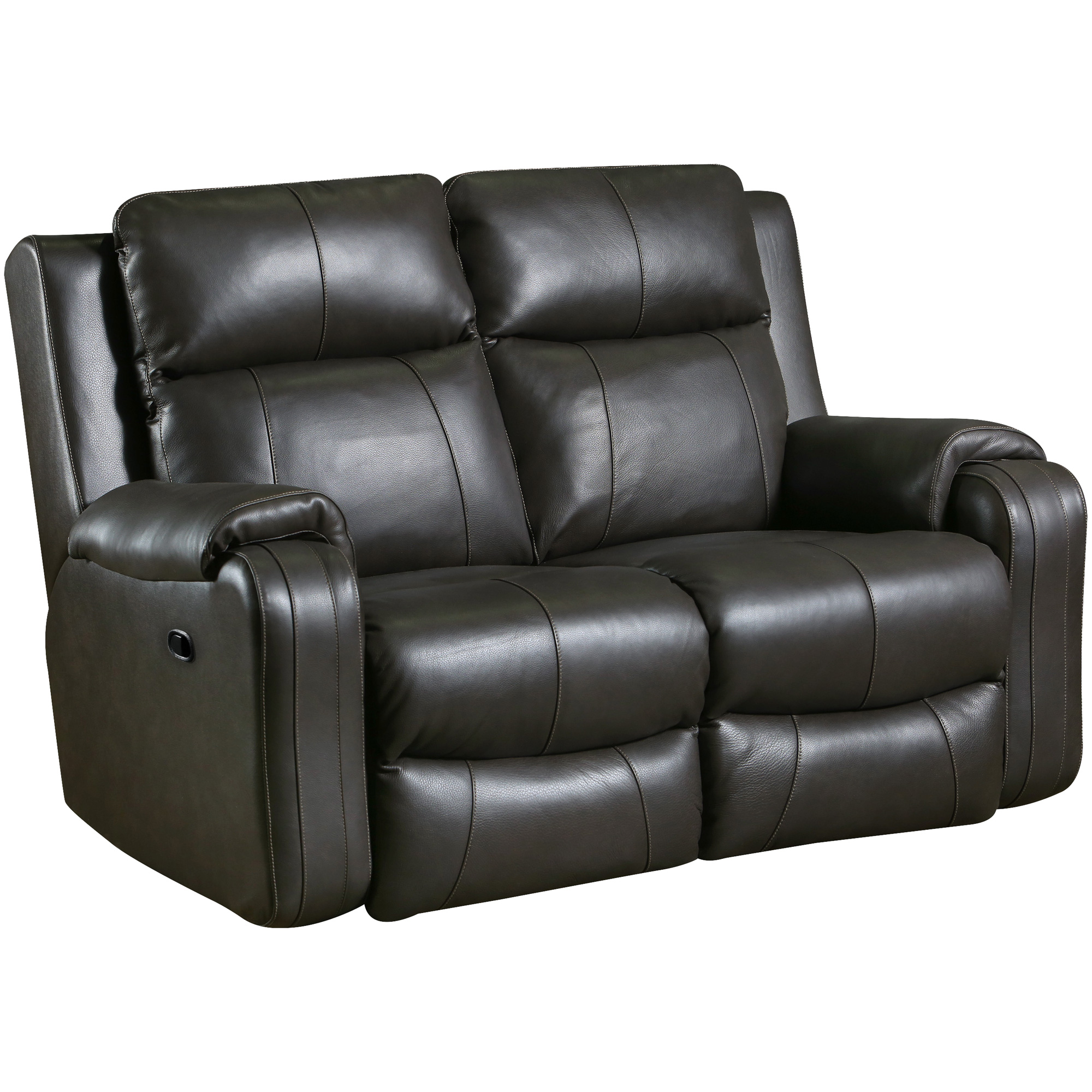Southern Motion | Contour Leather Fossil Reclining Loveseat Sofa