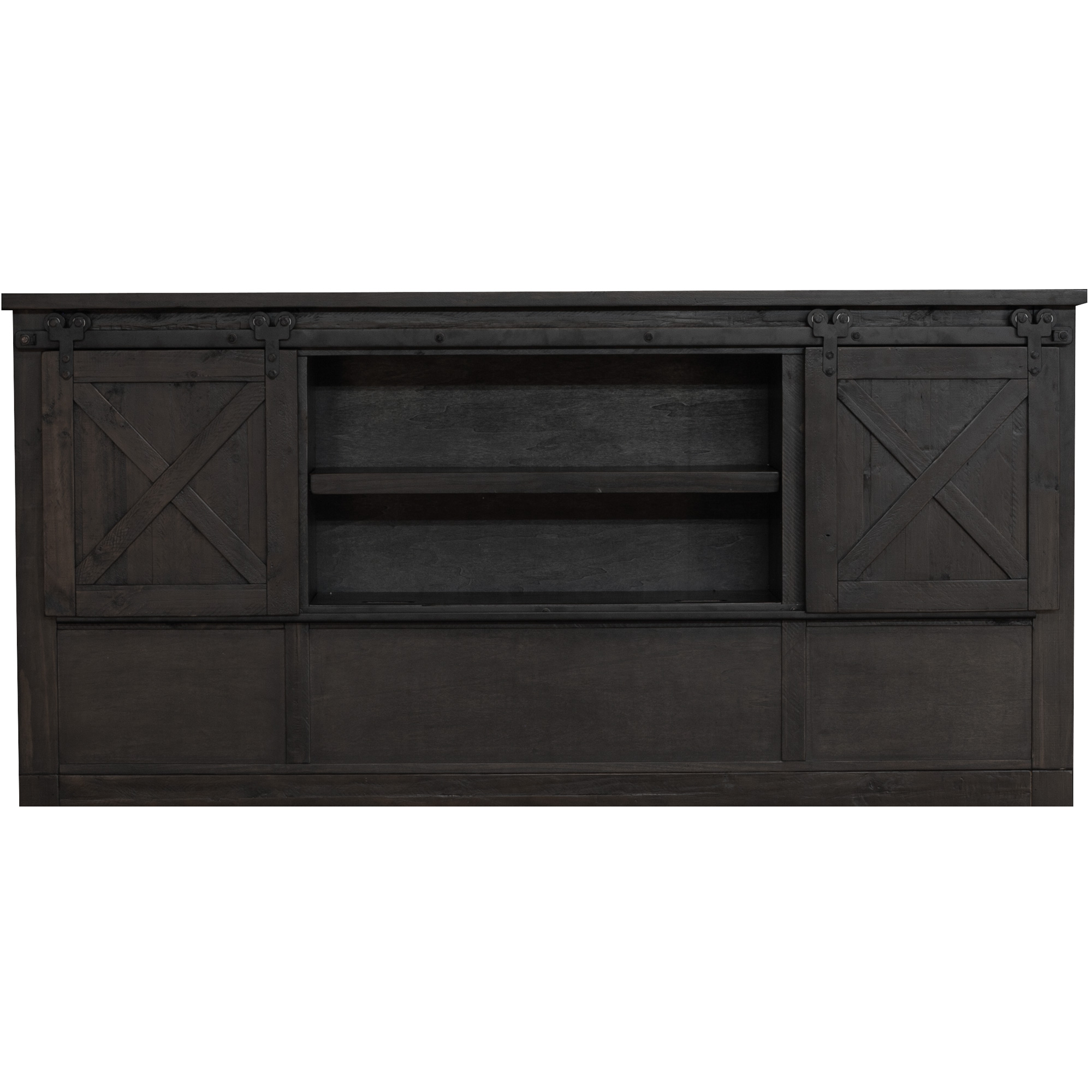 America | Sun Valley Charcoal King Bookcase Headboard