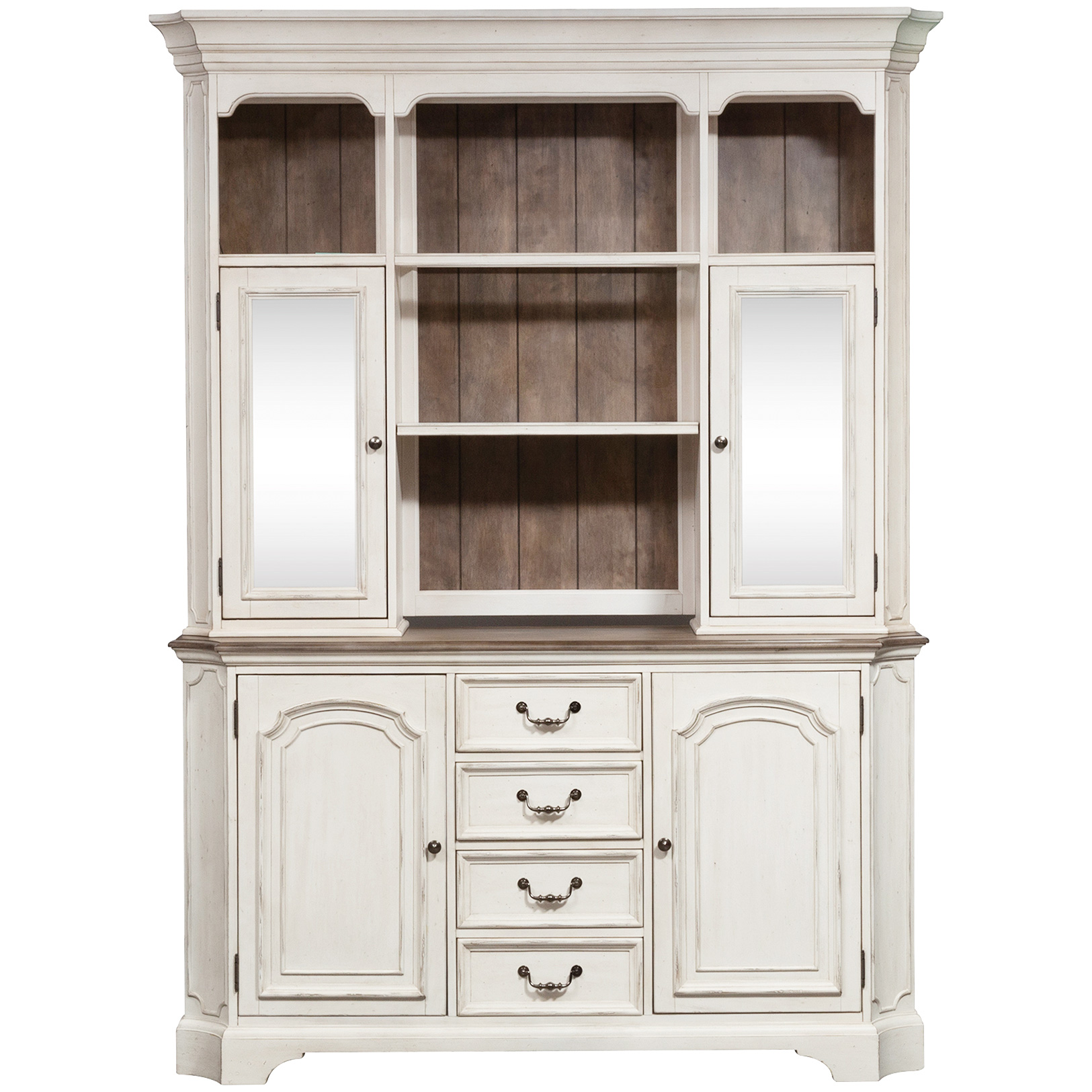 Liberty Furniture | Abbey Road White Hutch And Buffet