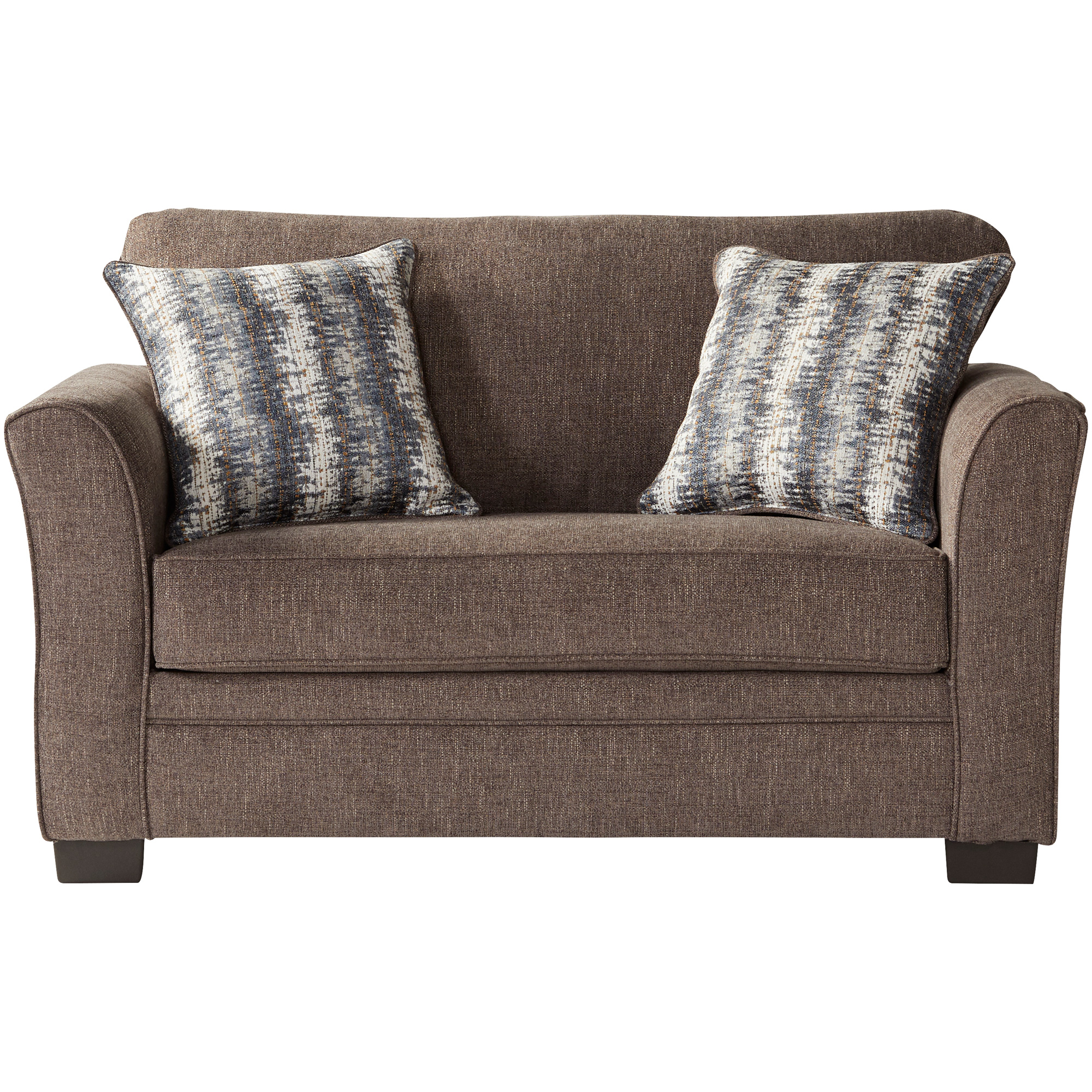 Serta Upholstery By Hughes Furniture | Bolster Umber Twin Sleeper Sofa