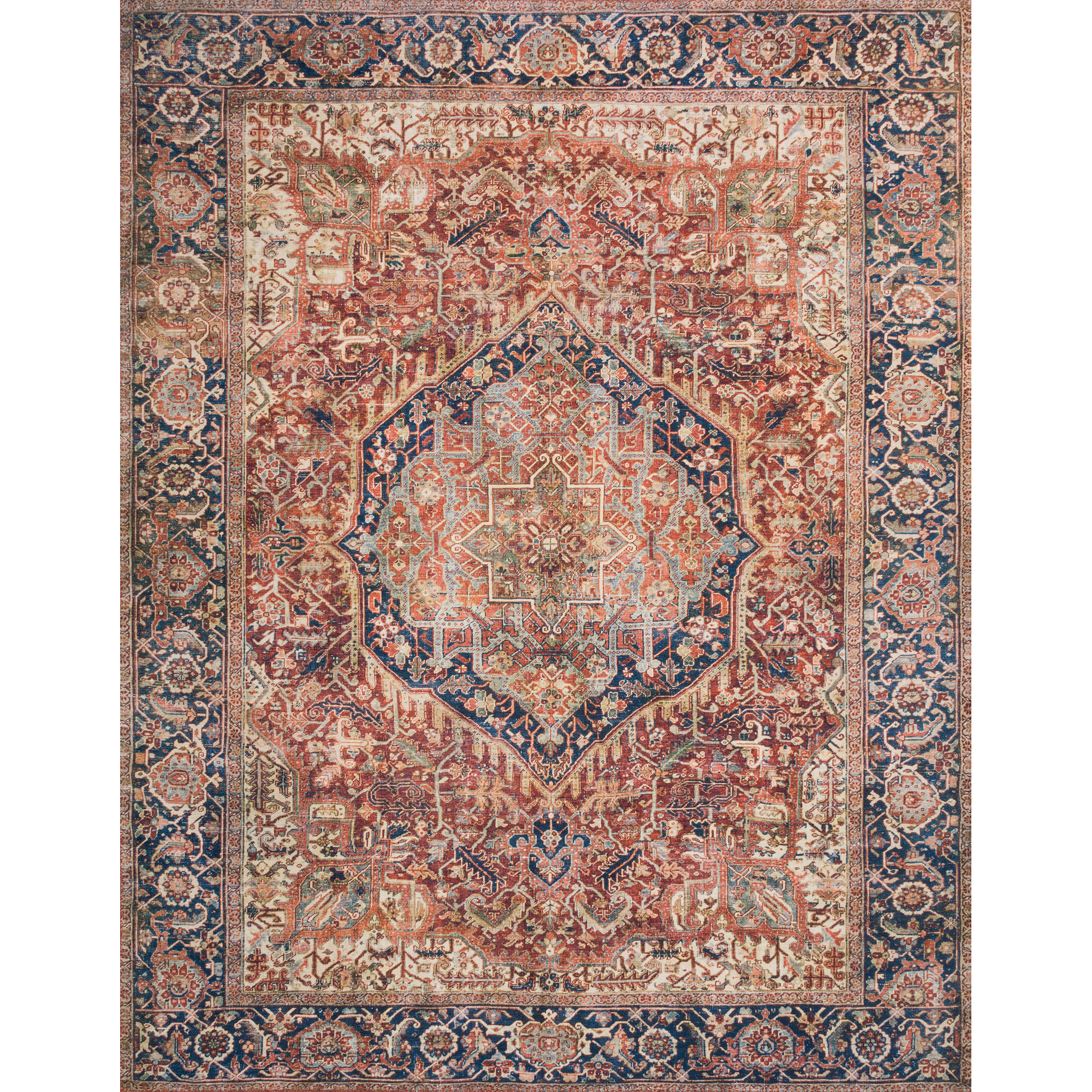 Loloi | Layla Red Navy 2x3 Area Rug