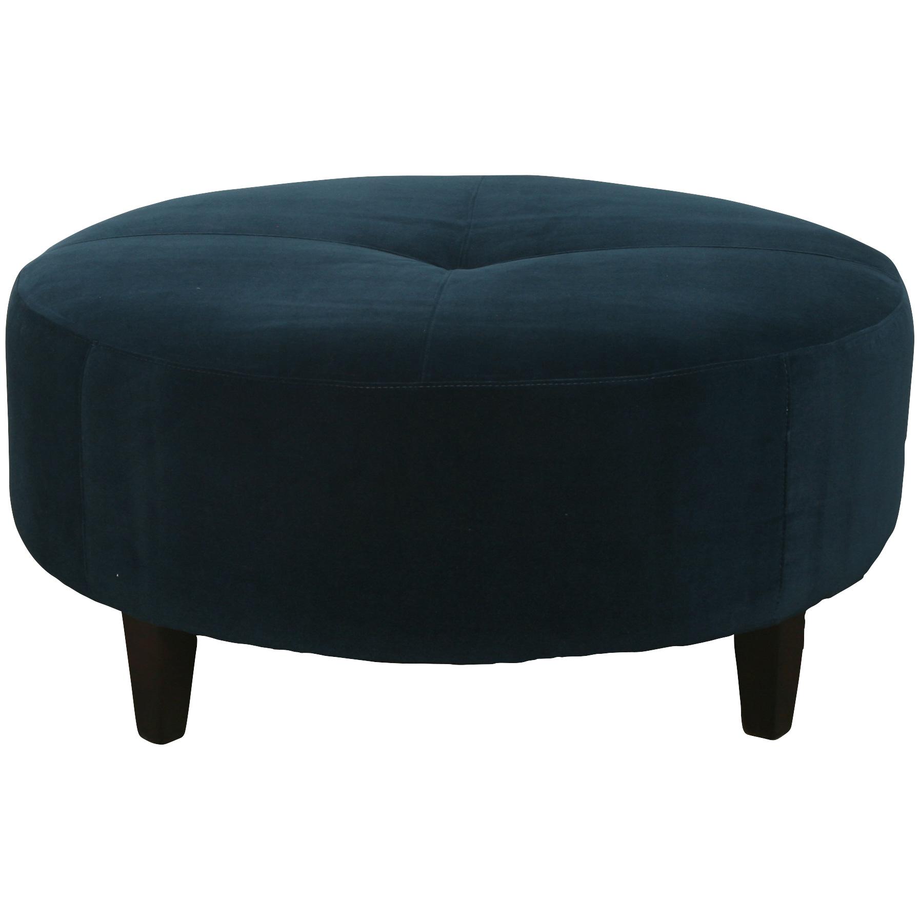 Bauhaus Furniture   Solo Navy Round Accent Ottoman