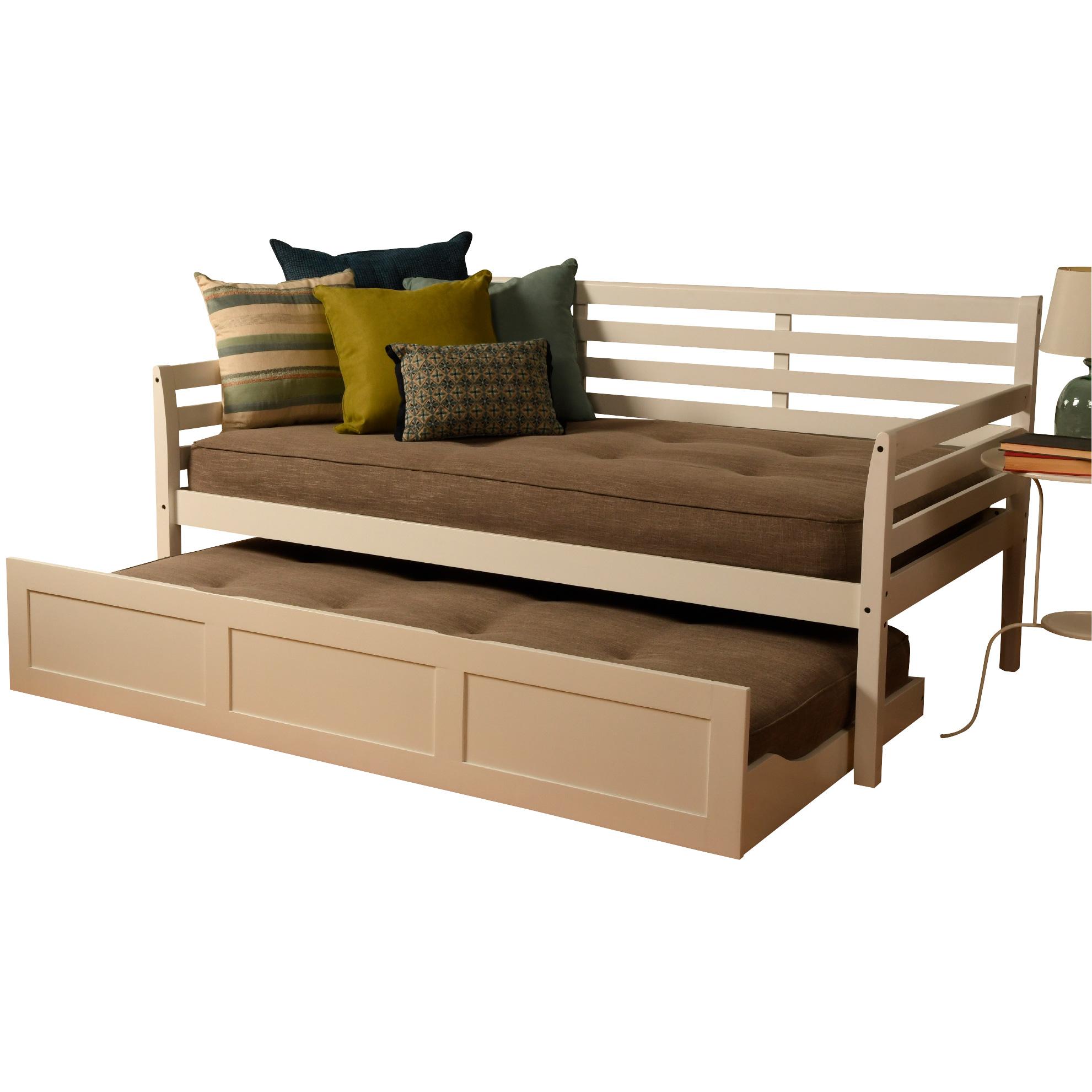 Kodiak Furniture | Boho White Daybed with Trundle