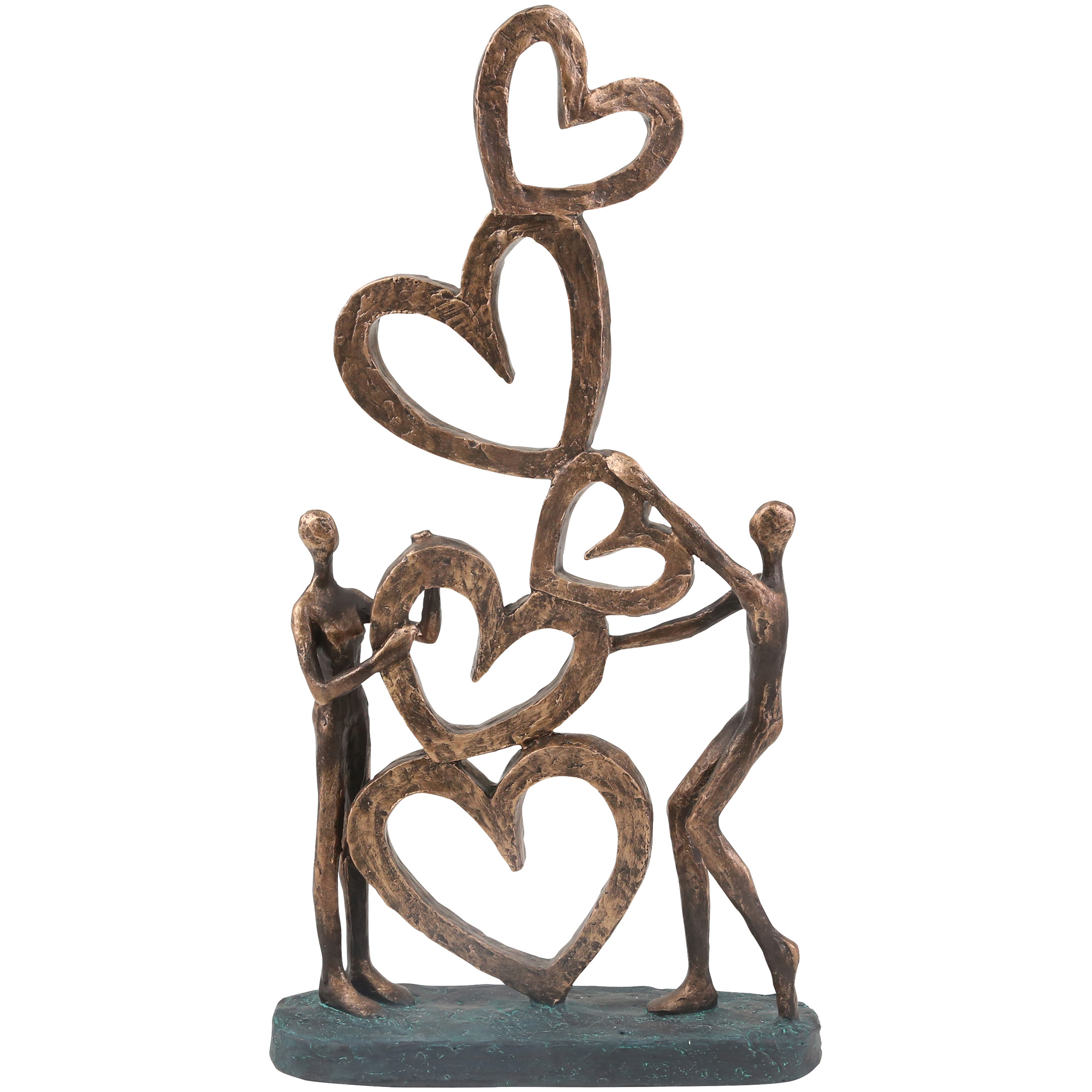 Sagebrook | Elevated Chic Bronze Couple With Hearts