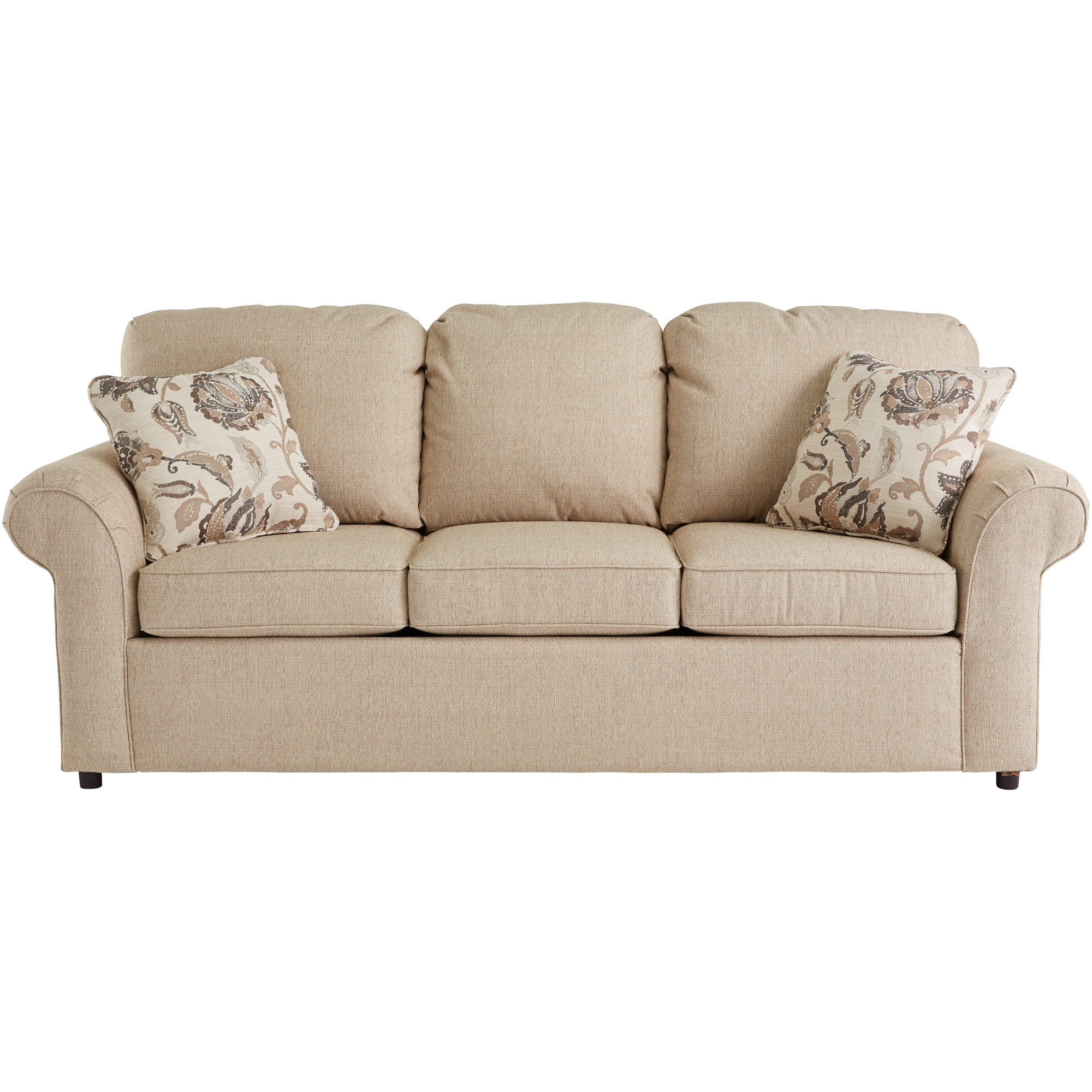 Dimensions By England   Burke Bisque Queen Visco Sleeper Sofa