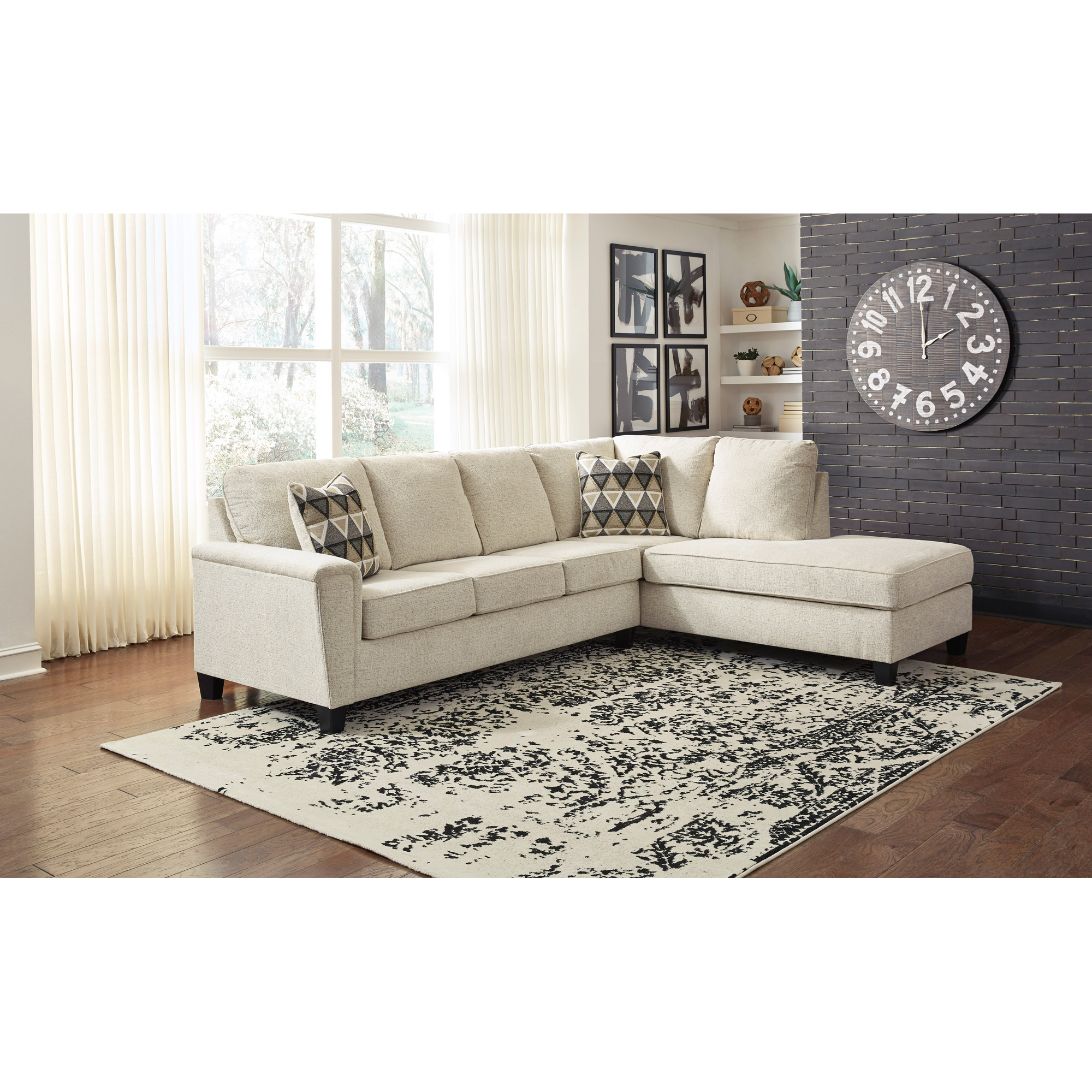 Ashley Furniture | Abinger Natural Right Chaise Sectional Sofa