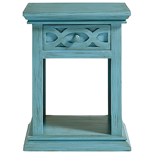 Progressive Furniture Inc. | Luna Turquoise Nightstand