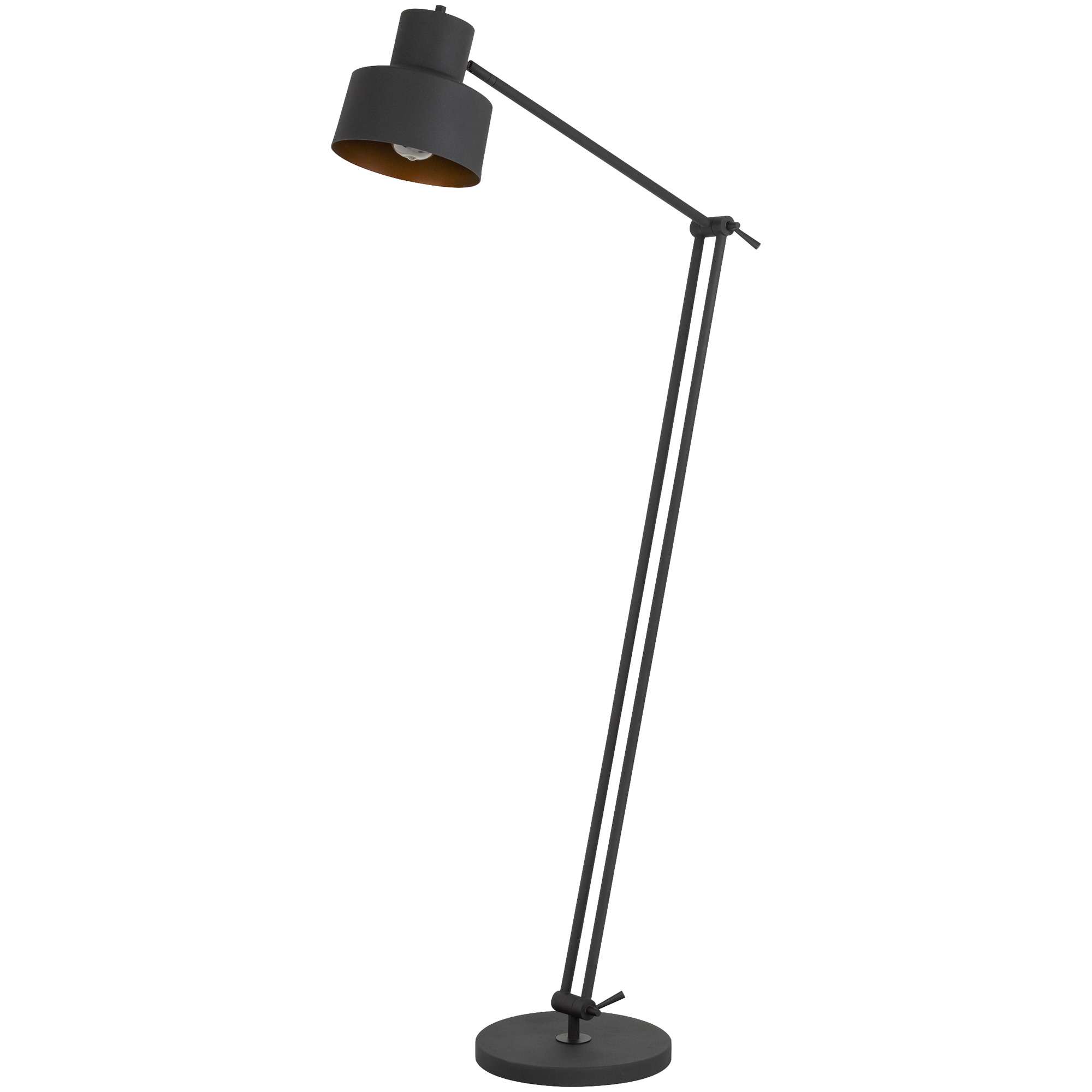 Cal Lighting | Davidson Black Floor Lamp