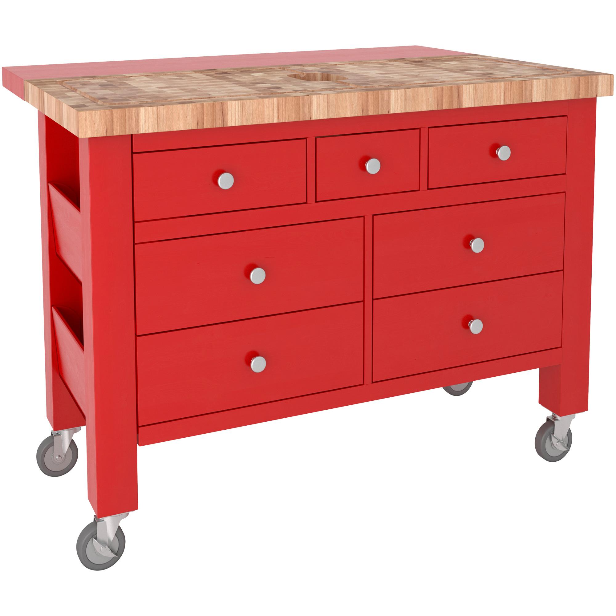 Canadel Furniture | Alma II Red Kitchen Island