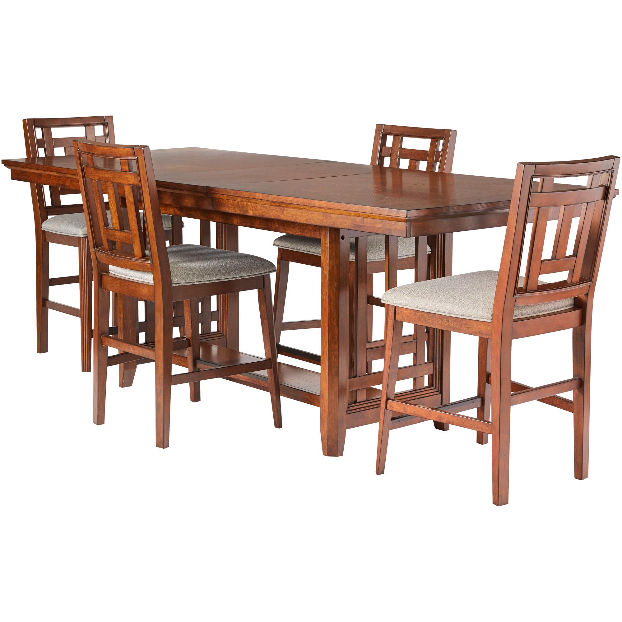 Davis Direct | Acorn Hill Brown 5 Piece Counter Dining Set