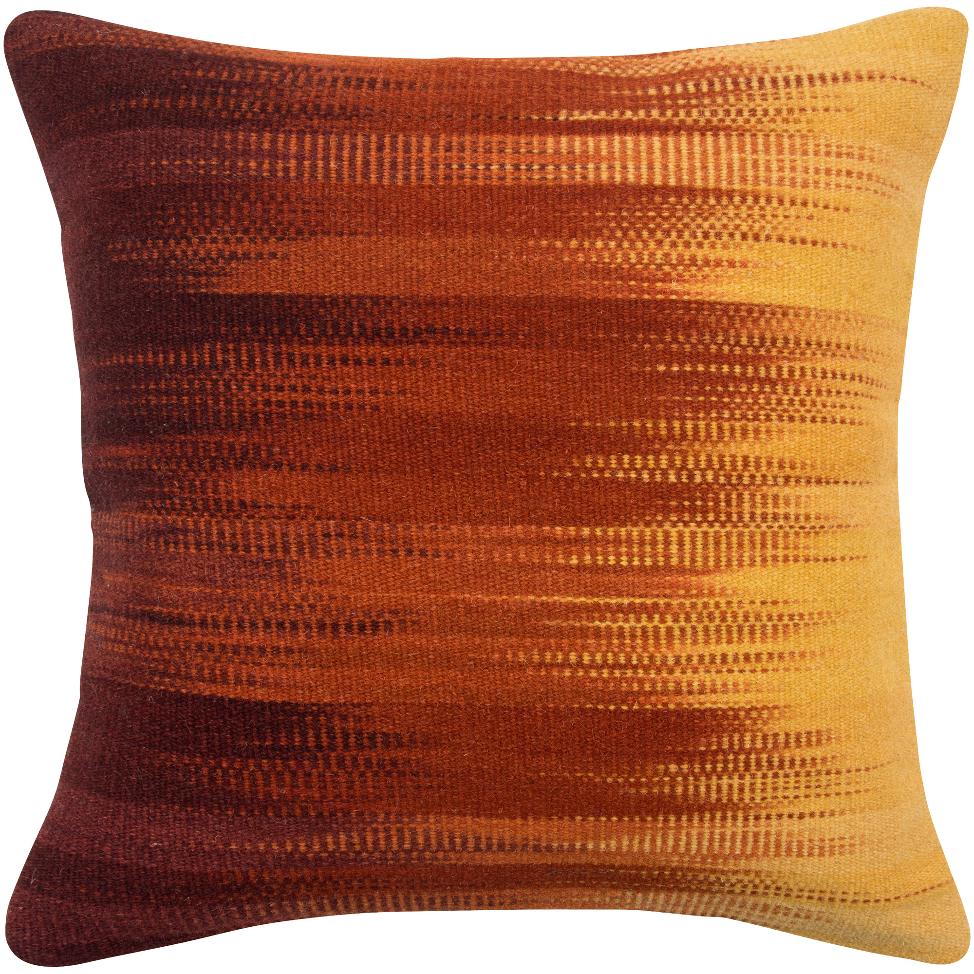 Rizzy Home | Aztec Red and Yellow Fade Down Pillow