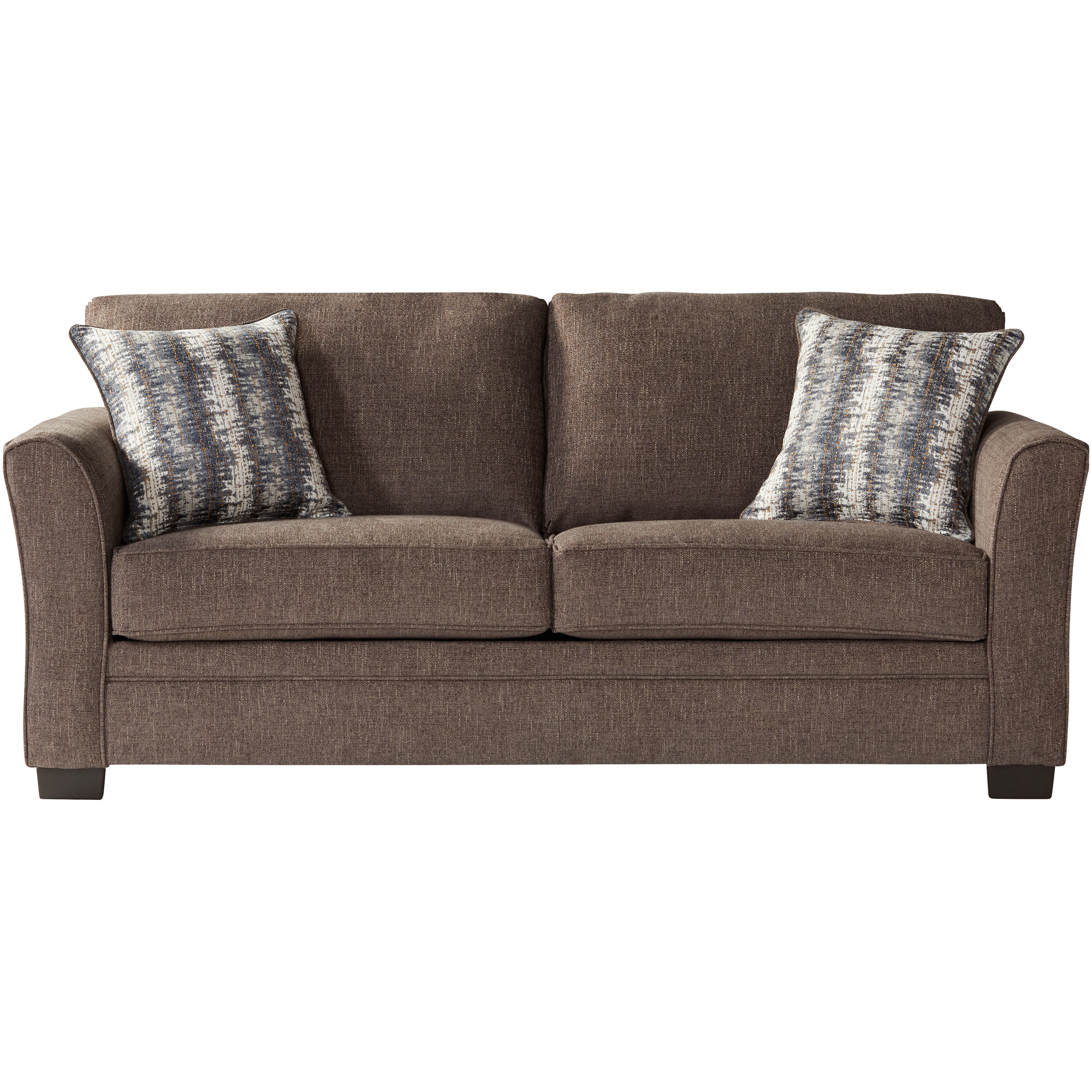 Serta Upholstery By Hughes Furniture | Bolster Umber Full Sleeper Sofa