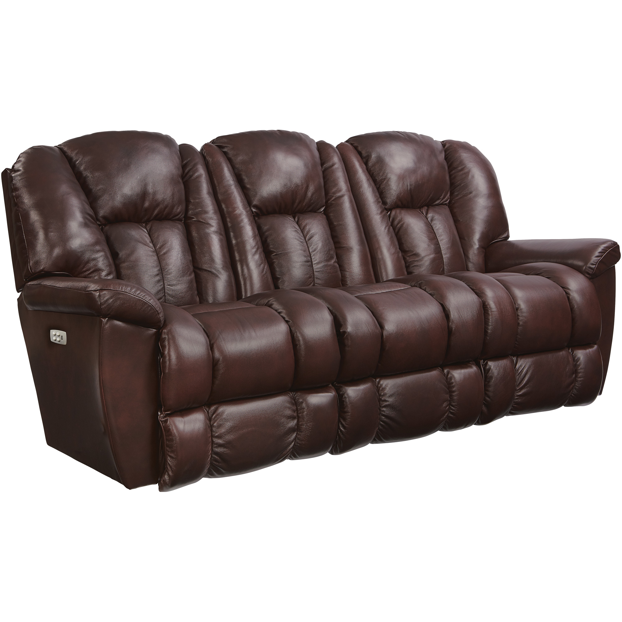 Slumberland Furniture | Maverick Burgundy Power Reclining Sofa