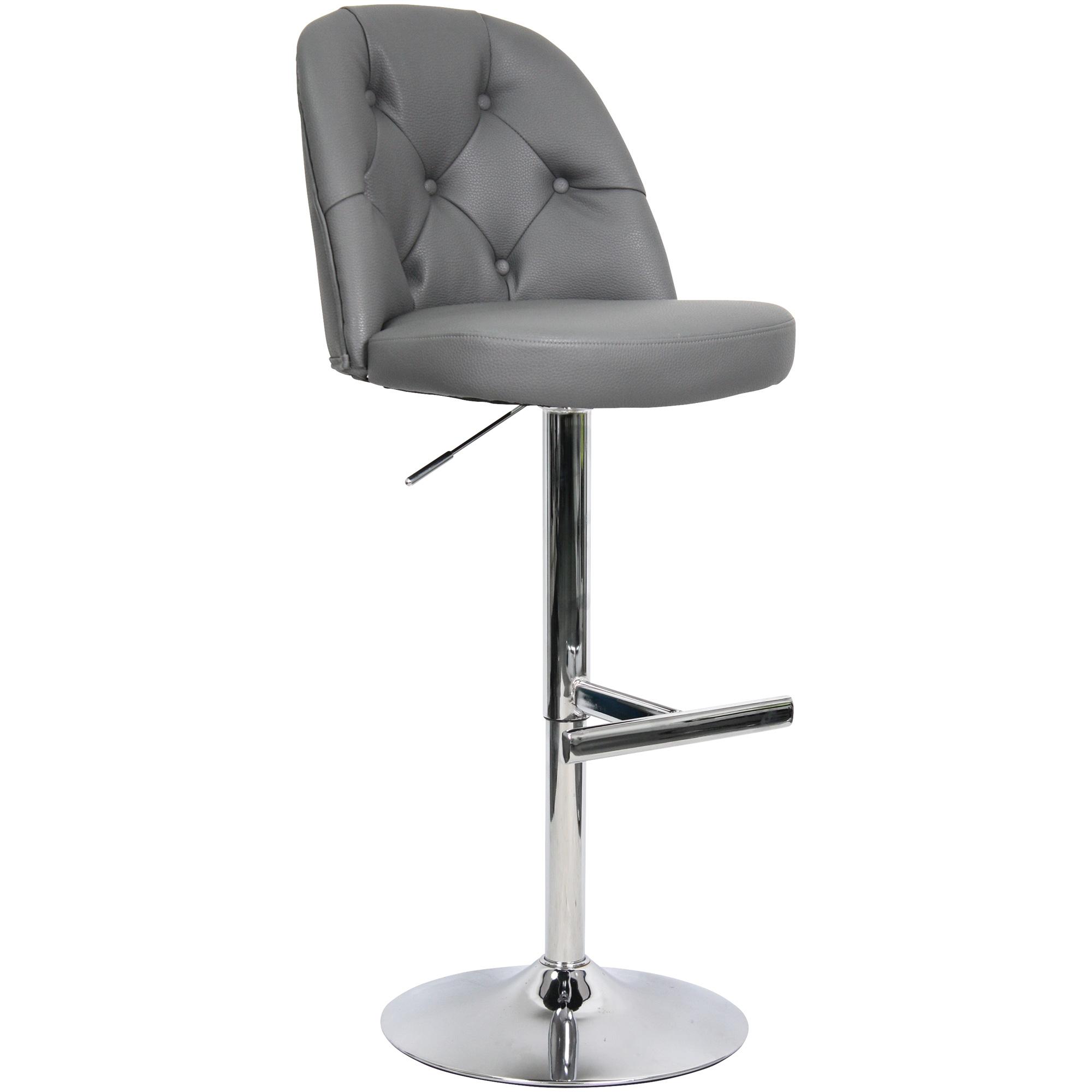 Whalen Furniture | Archer Gray Adjustable Stool