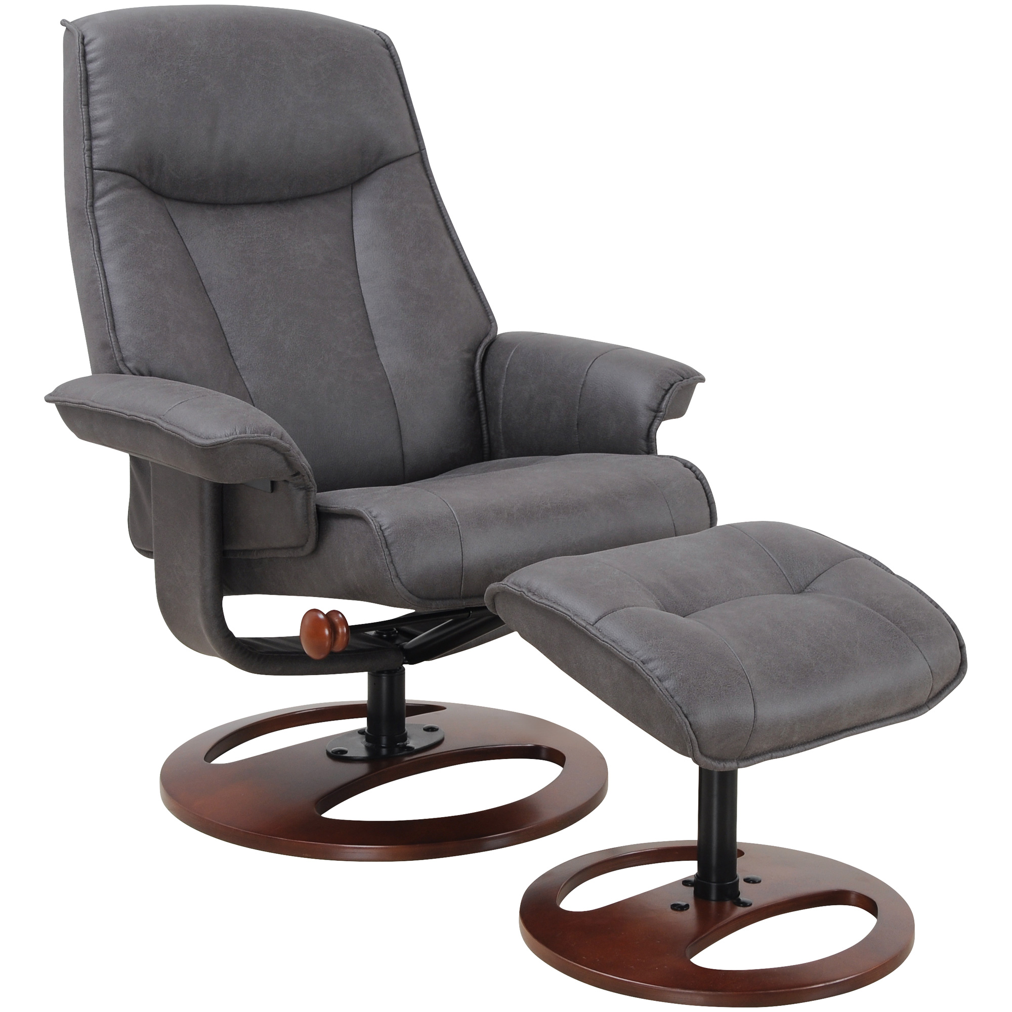 Benchmaster | Heritage Graphite Recliner Chair with Ottoman