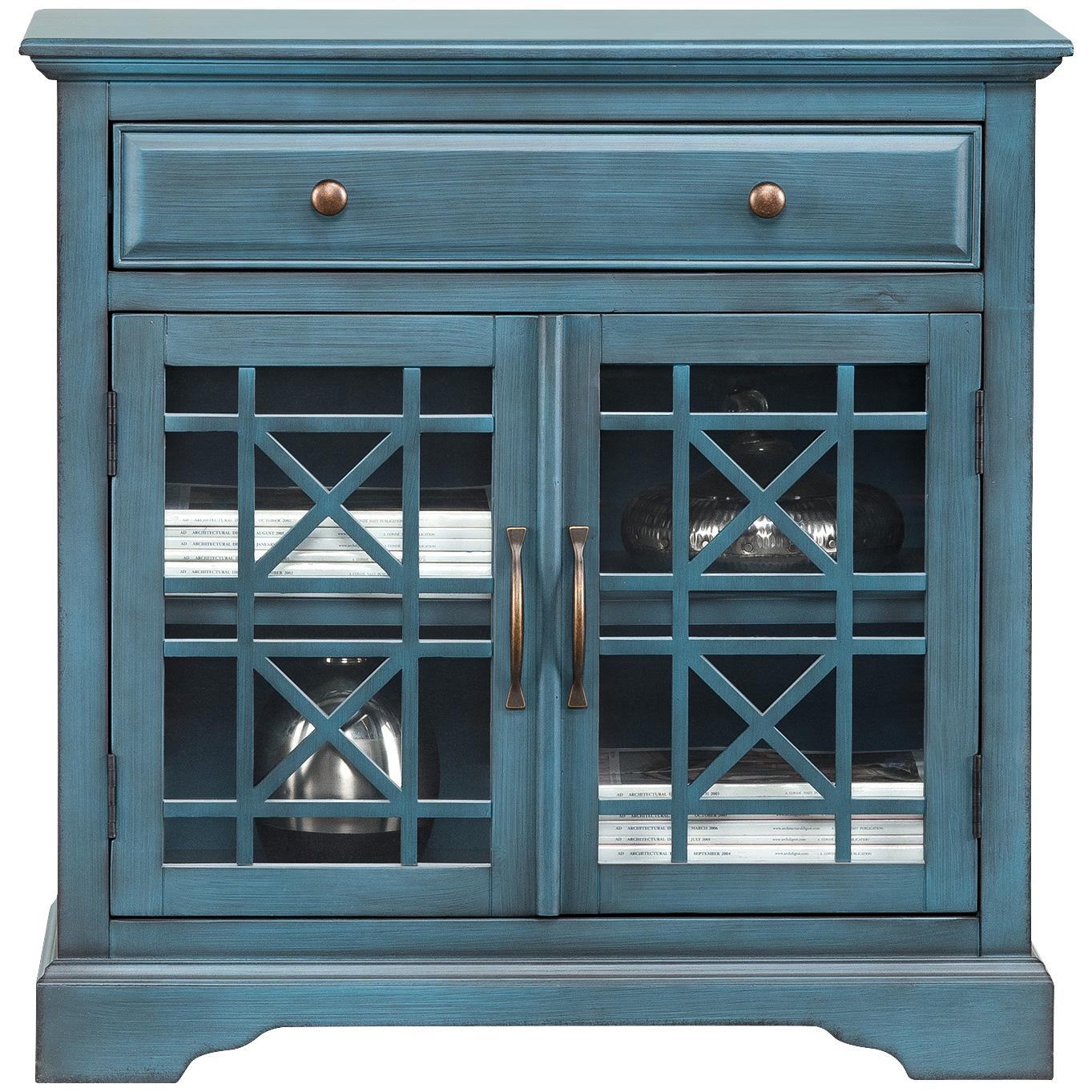 Slumberland Furniture   Chilton Antique Blue Cabinet