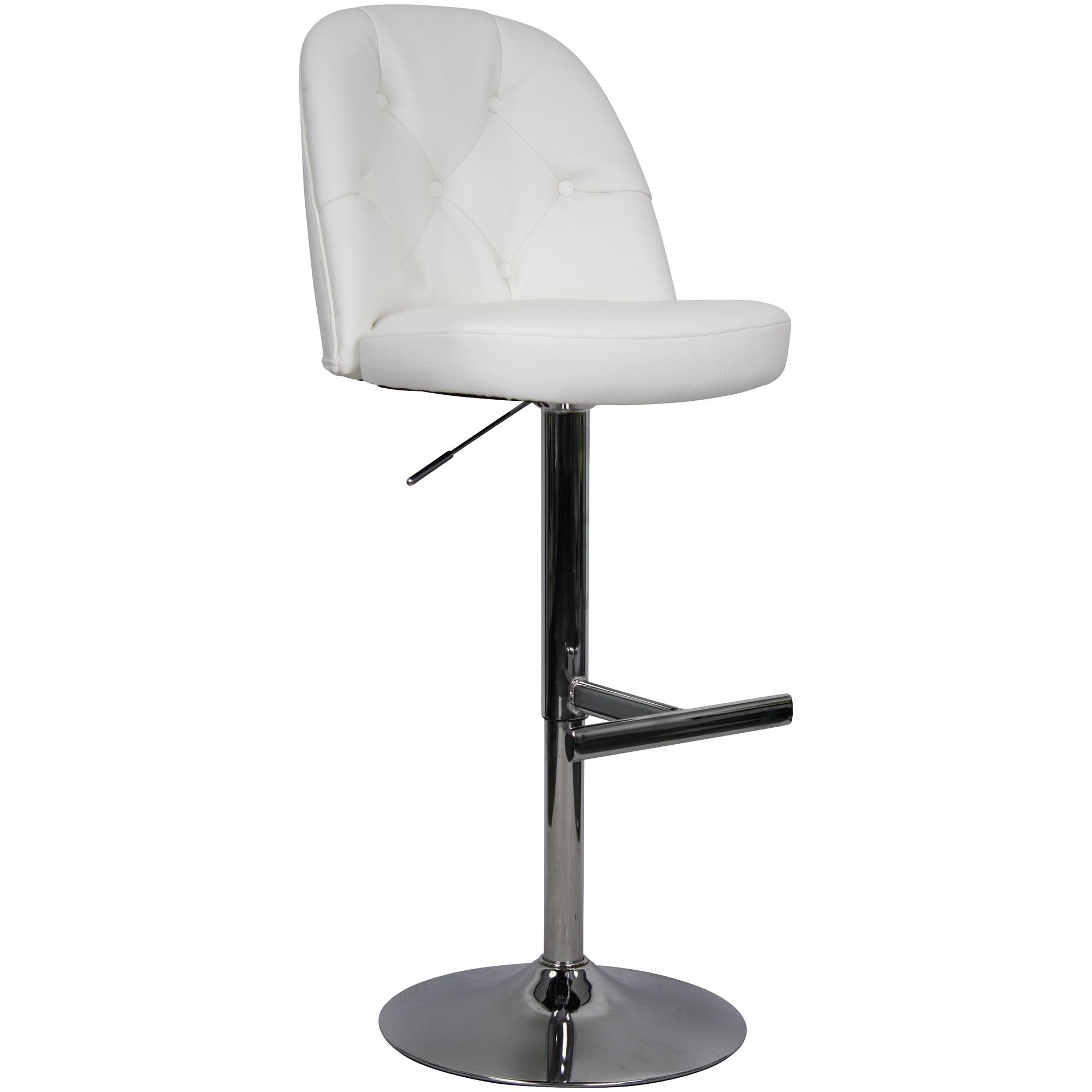 Whalen Furniture | Archer White Adjustable Stool