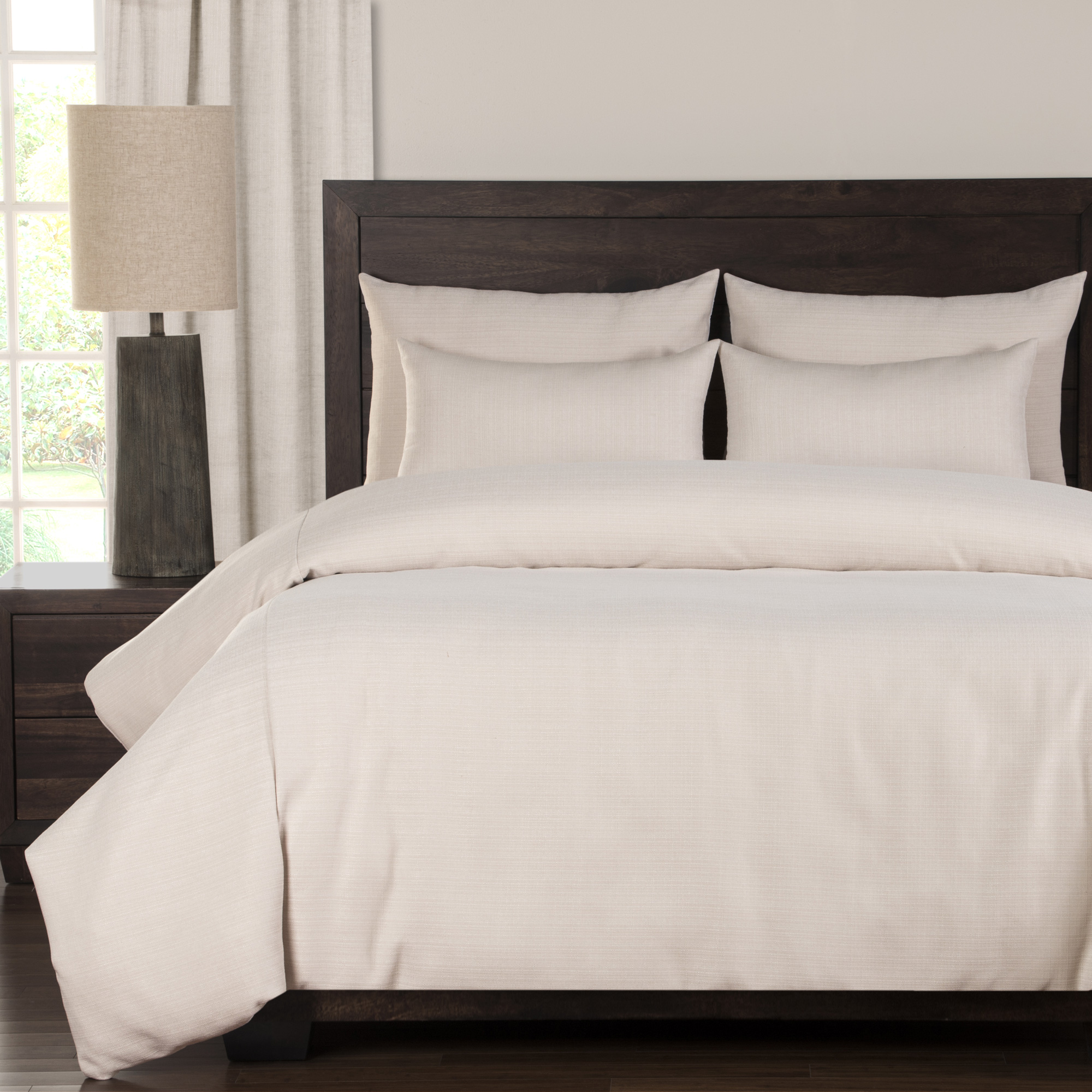 Sis Enterprises | Belfast 6 Piece Cream Queen Duvet Set