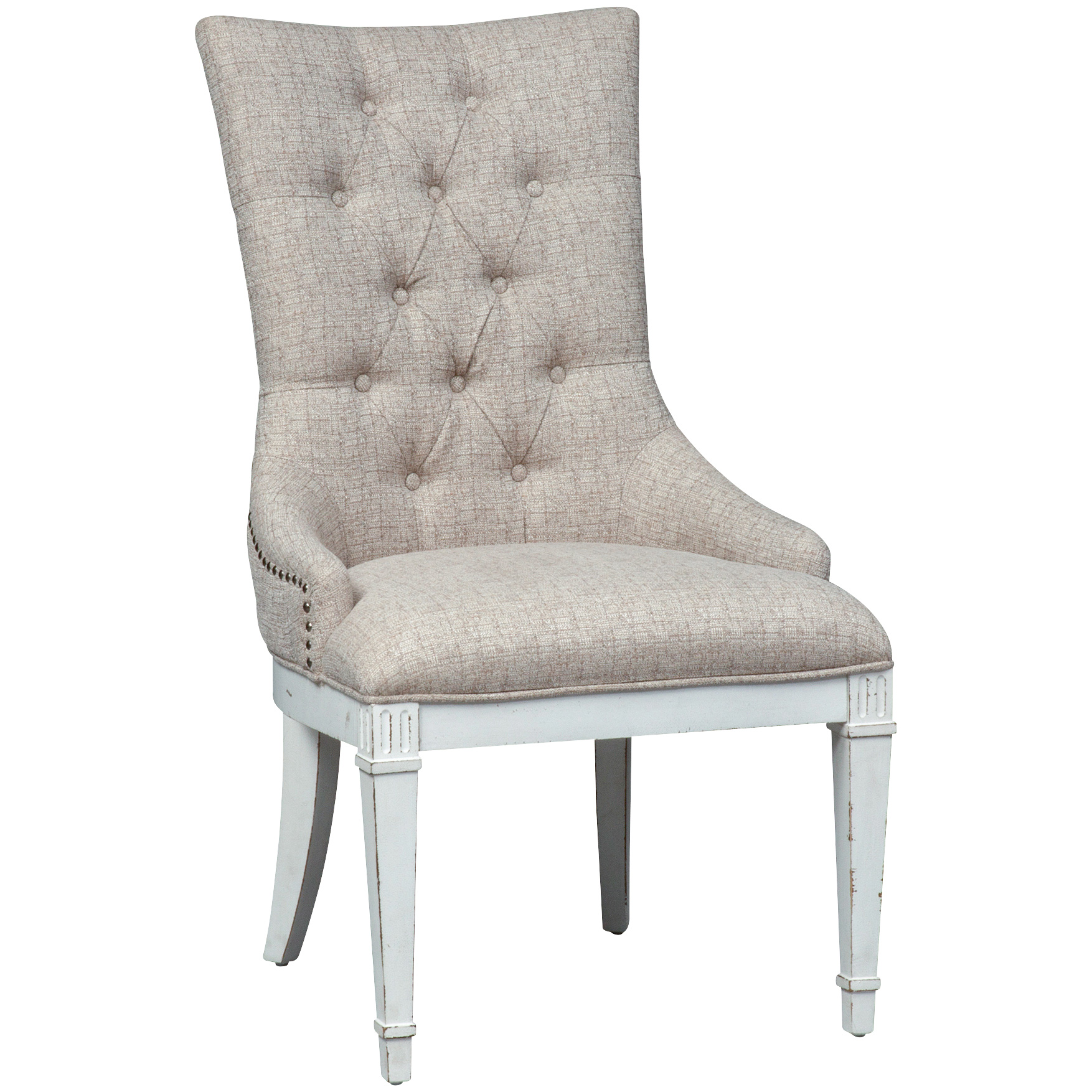 Liberty Furniture | Abbey Park White Hostess Chair