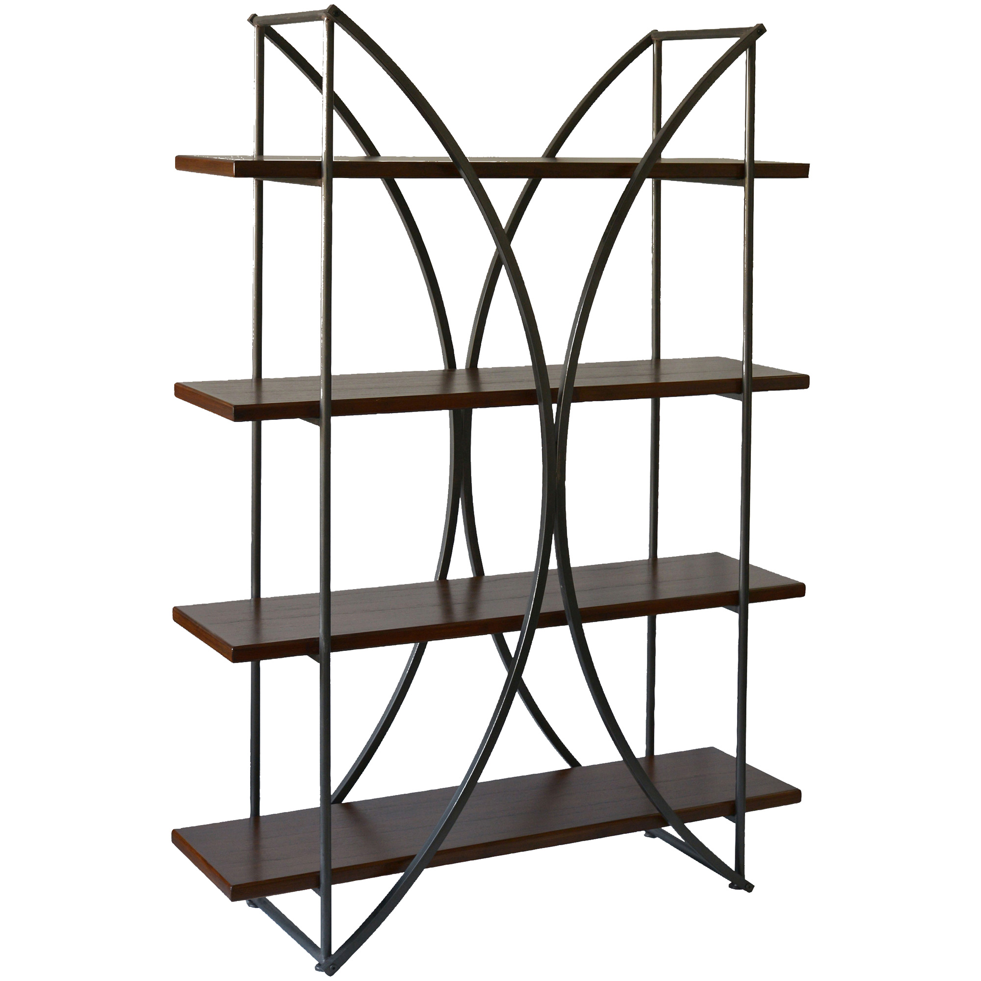 Stylecraft Home Collection | Elliptical Brown Bookcase